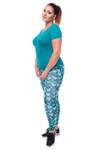 Green Scale Leggings - Plus Size