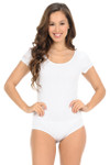 Short Sleeve Scoop Neck Cotton Bodysuit