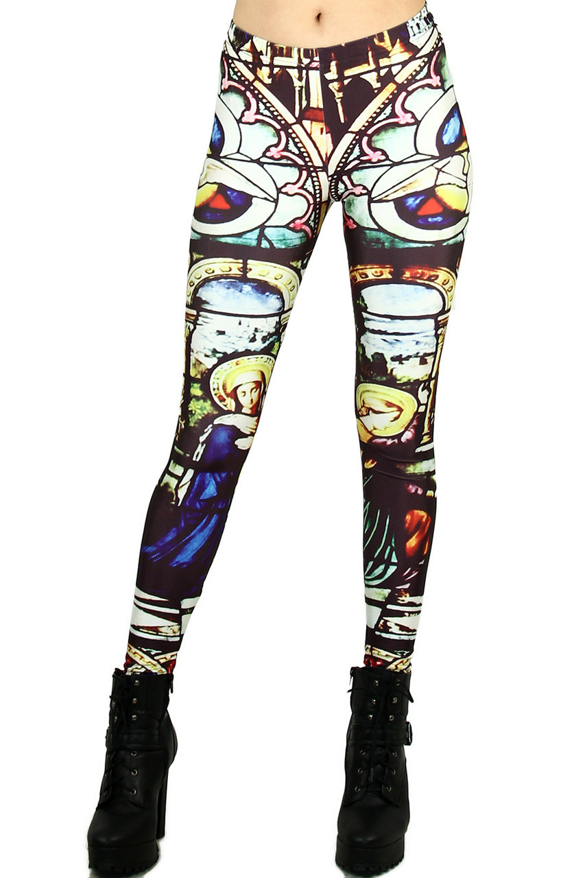 aae4ee3e2a7f4 Mosaic Glass Leggings - Plus Size | OnlyLeggings.com