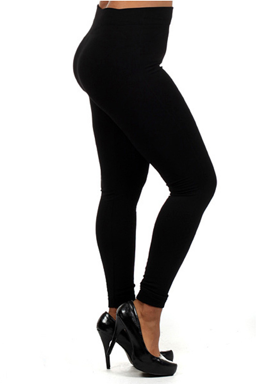 4e8a508ef0268a Thick Fleece Lined Plus Size Leggings | Only Leggings
