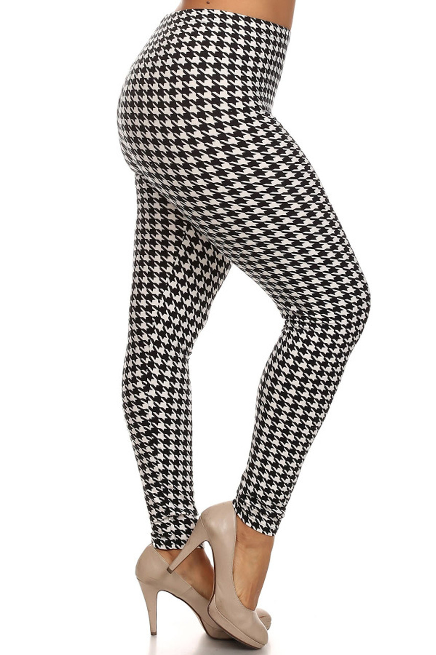6a00f0477c2 Comfy Houndstooth Lined Plus Size Leggings