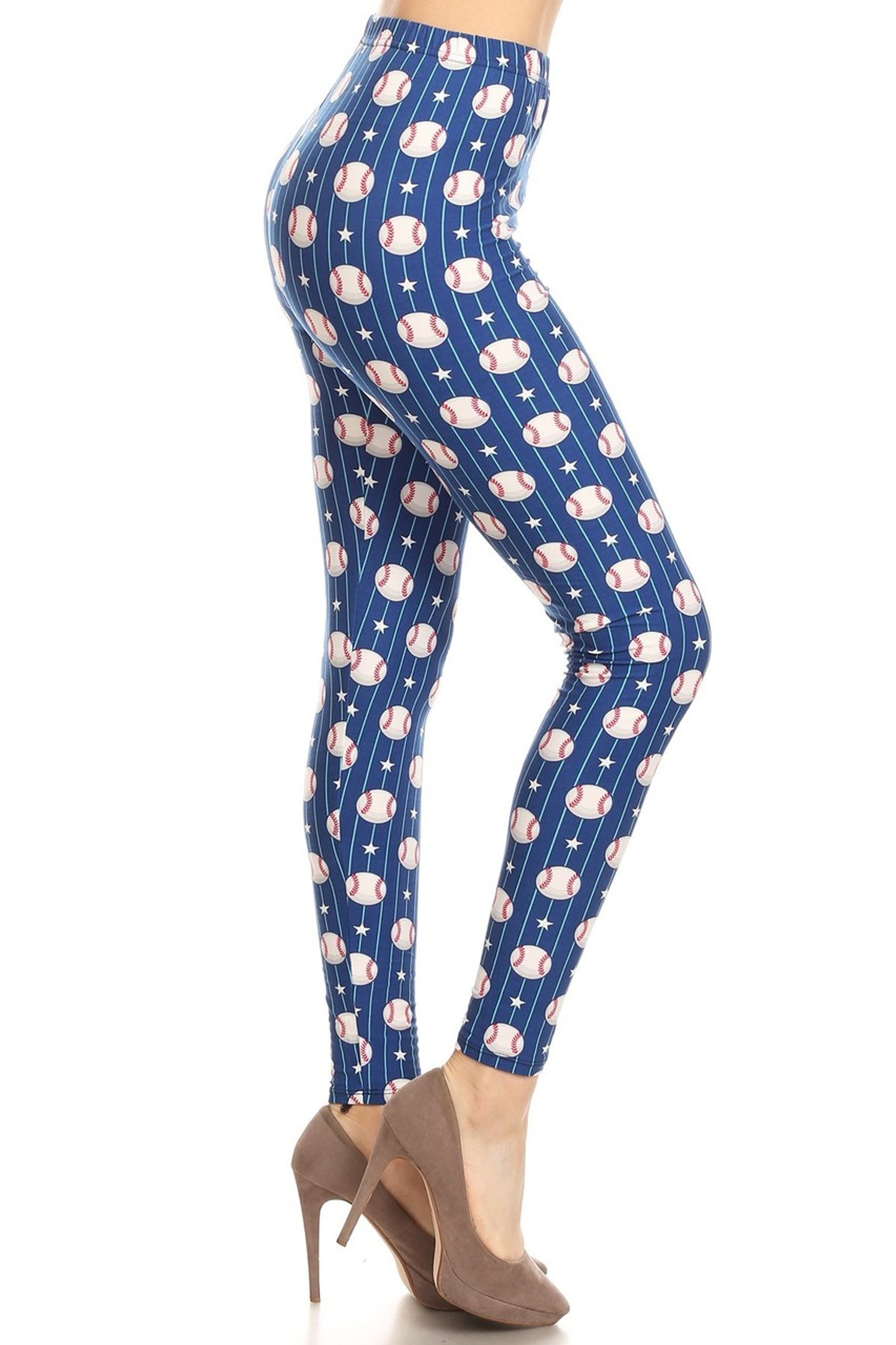 One SizePlus Size3X-5X Blue /& White Plaid Buttery Soft Leggings