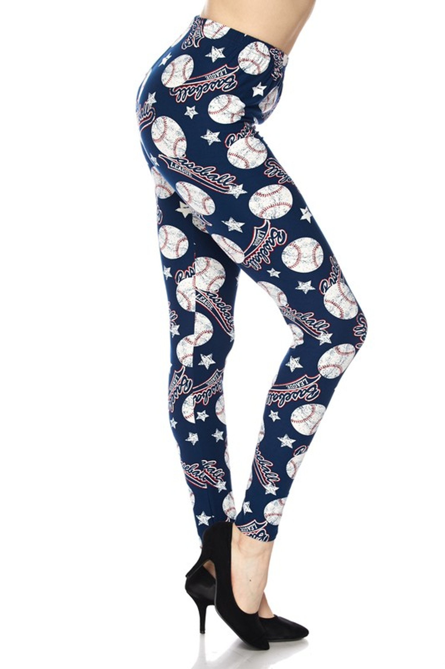 Brushed Major League Baseball Plus Size Leggings - 3X-5X