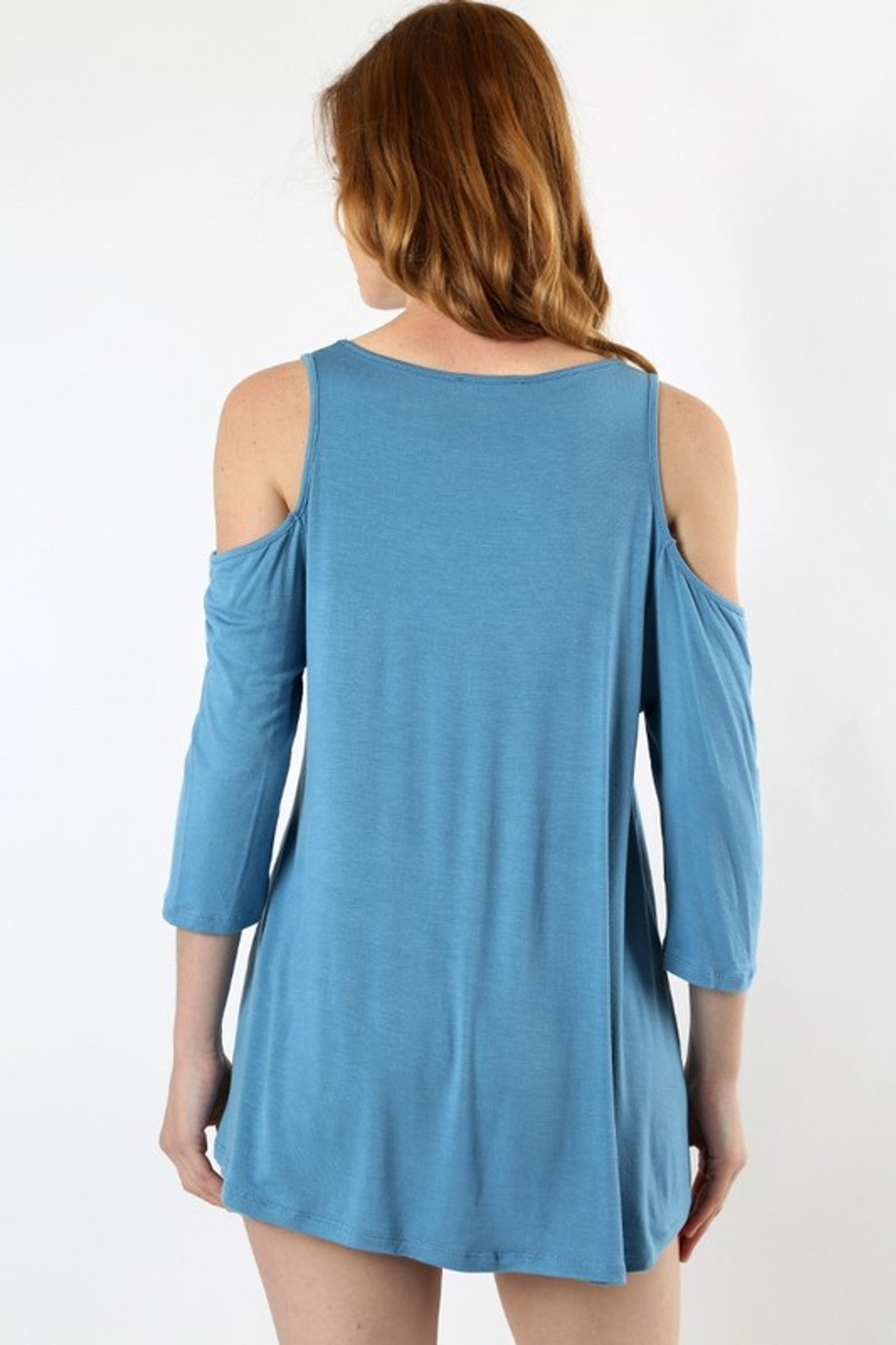 Premium Loose Fit Cold Shoulder Rayon Top