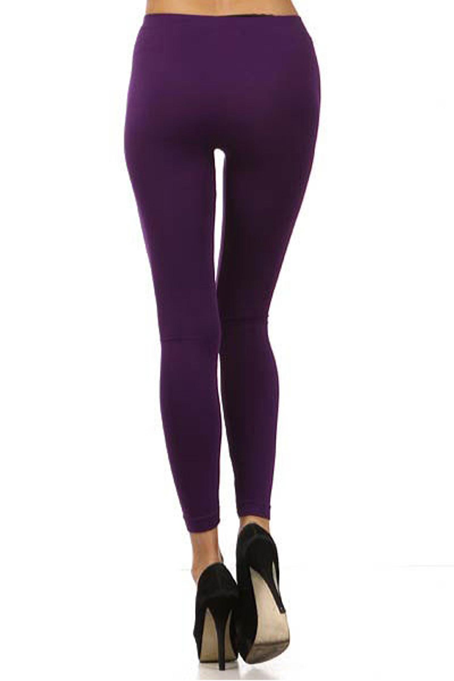 Basic Full Length Spandex Leggings Back