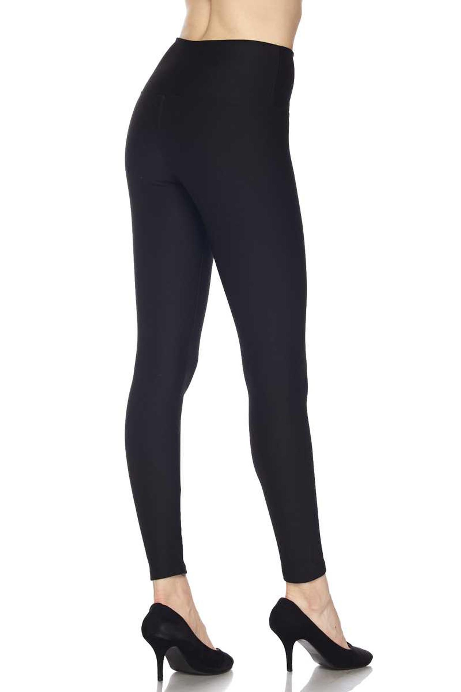 Silky Smooth Black Scuba High Waisted Leggings - 5 Inch