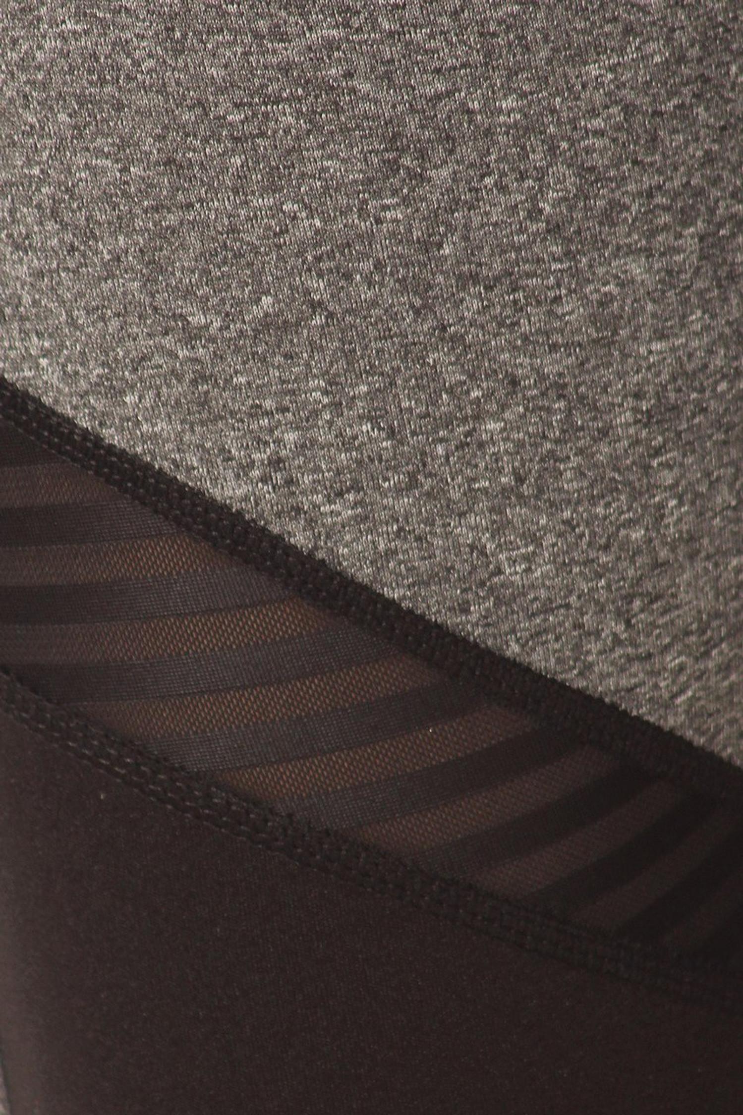 Premium Front Panel Mesh Accent Workout Leggings