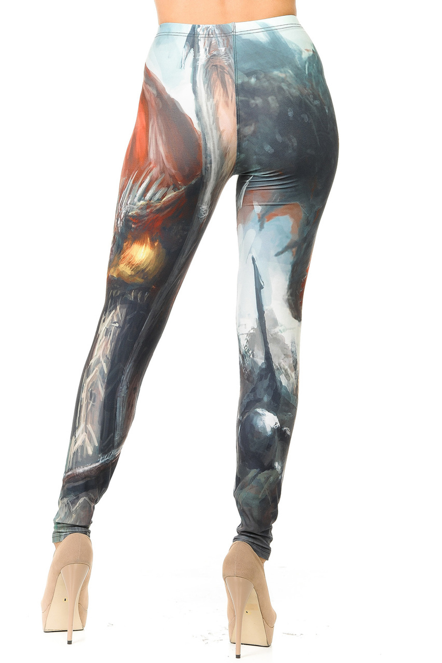 Creamy Soft Feral Dragons Leggings
