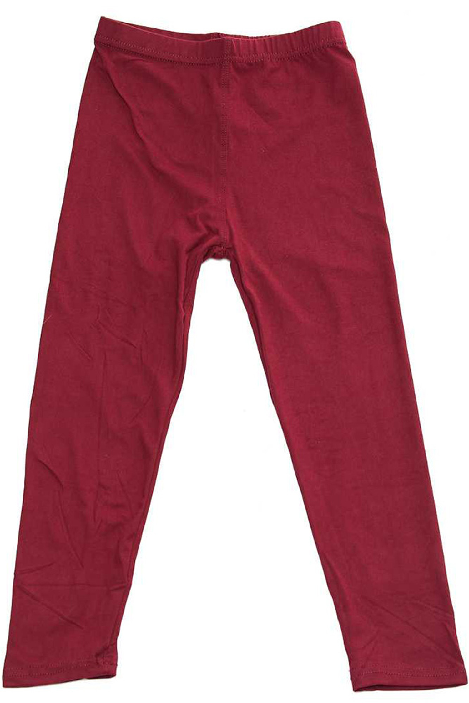Brushed Solid Basic Kids Leggings