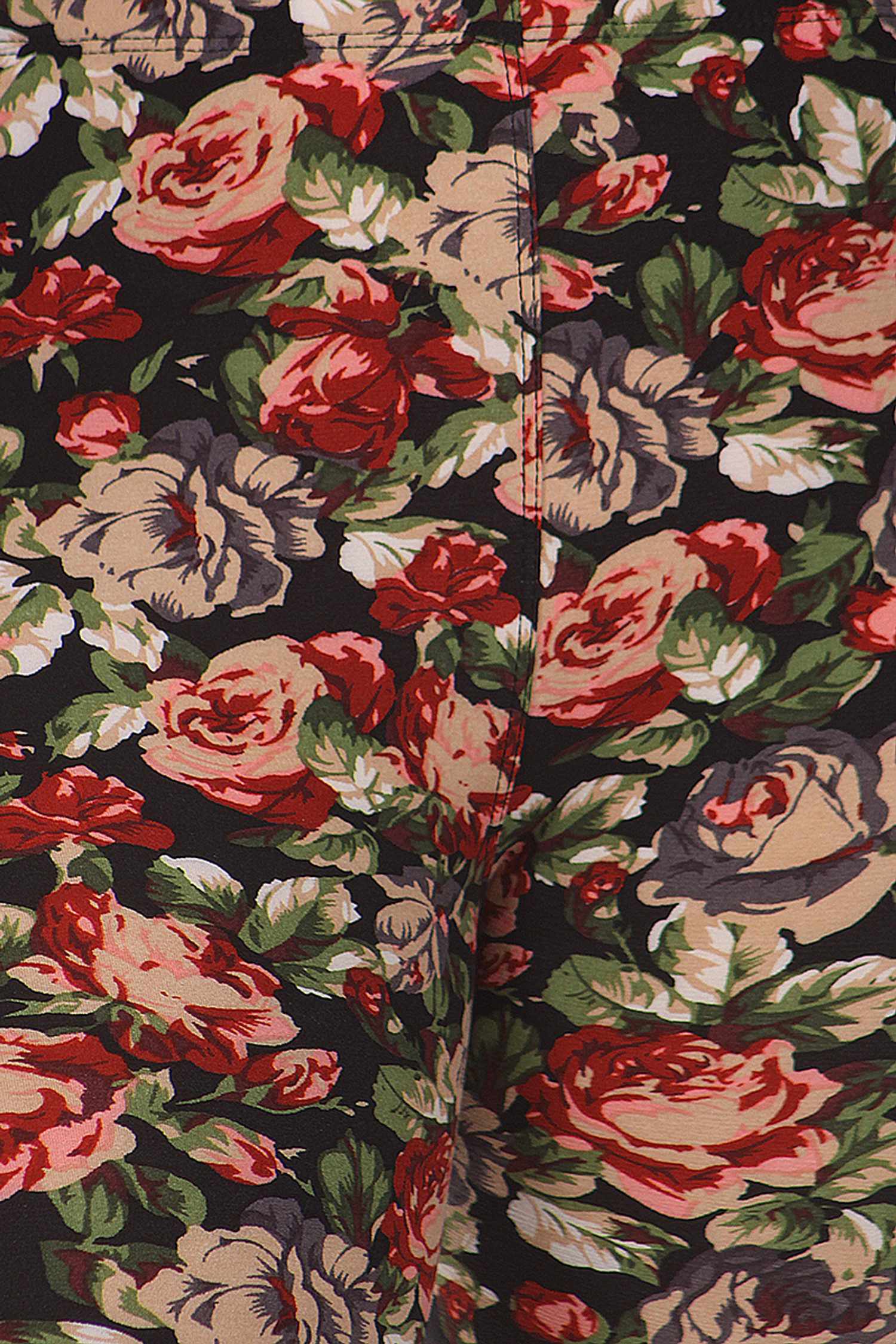 Close up fabric image of Brushed Plus Size Vintage Floral Leggings