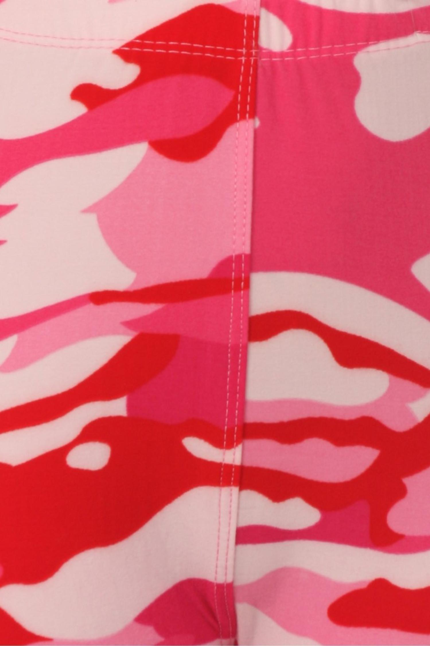 Brushed Pink Camouflage Kids Leggings - EEVEE