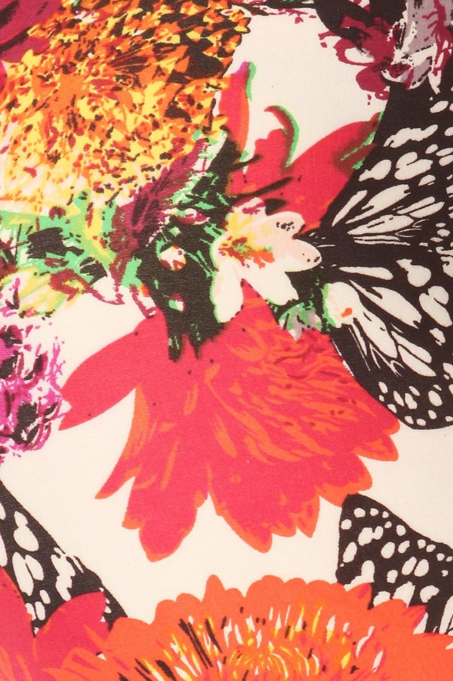 Brushed Butterfly Garden Plus Size Leggings