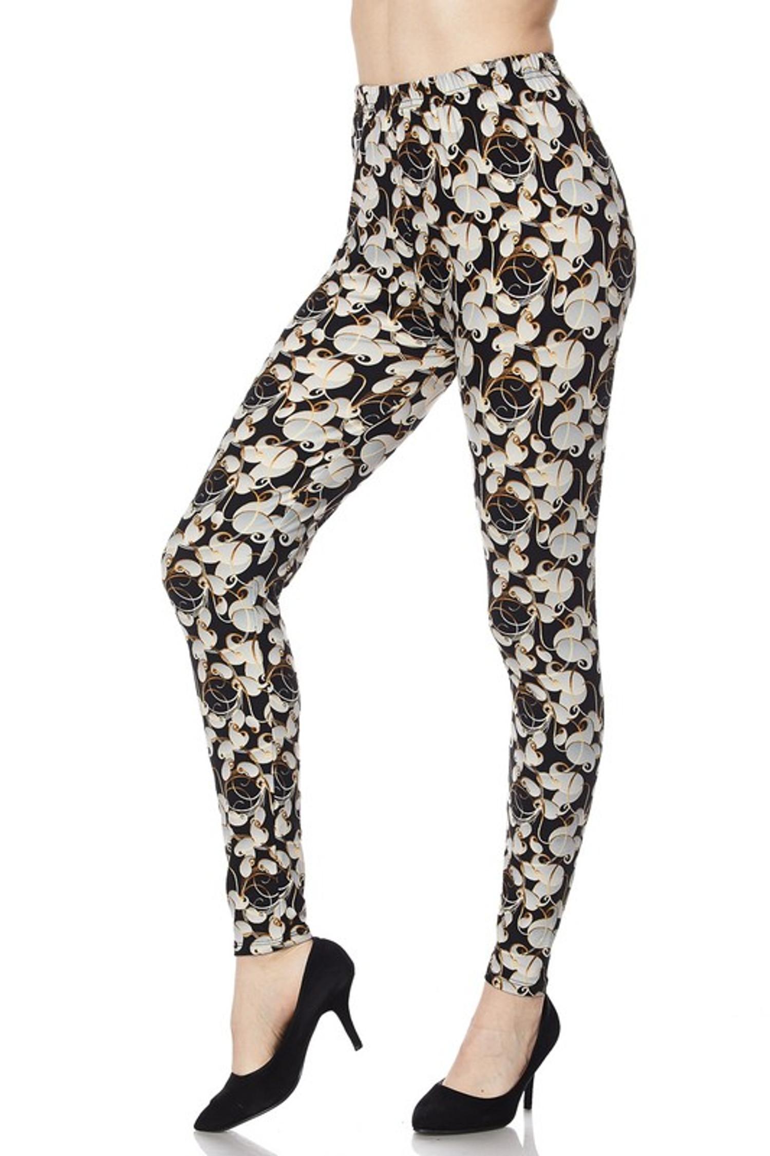 Brushed Ivory Petals Leggings