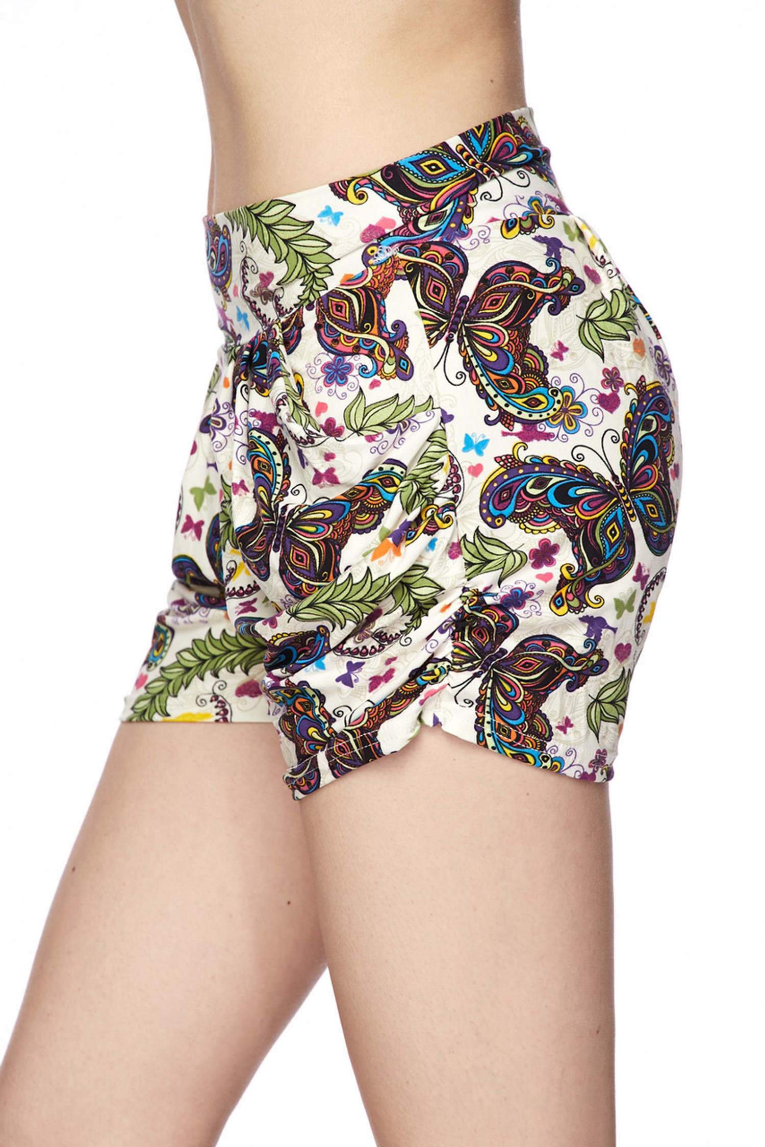 Brushed Dainty Ivory Butterfly Shorts