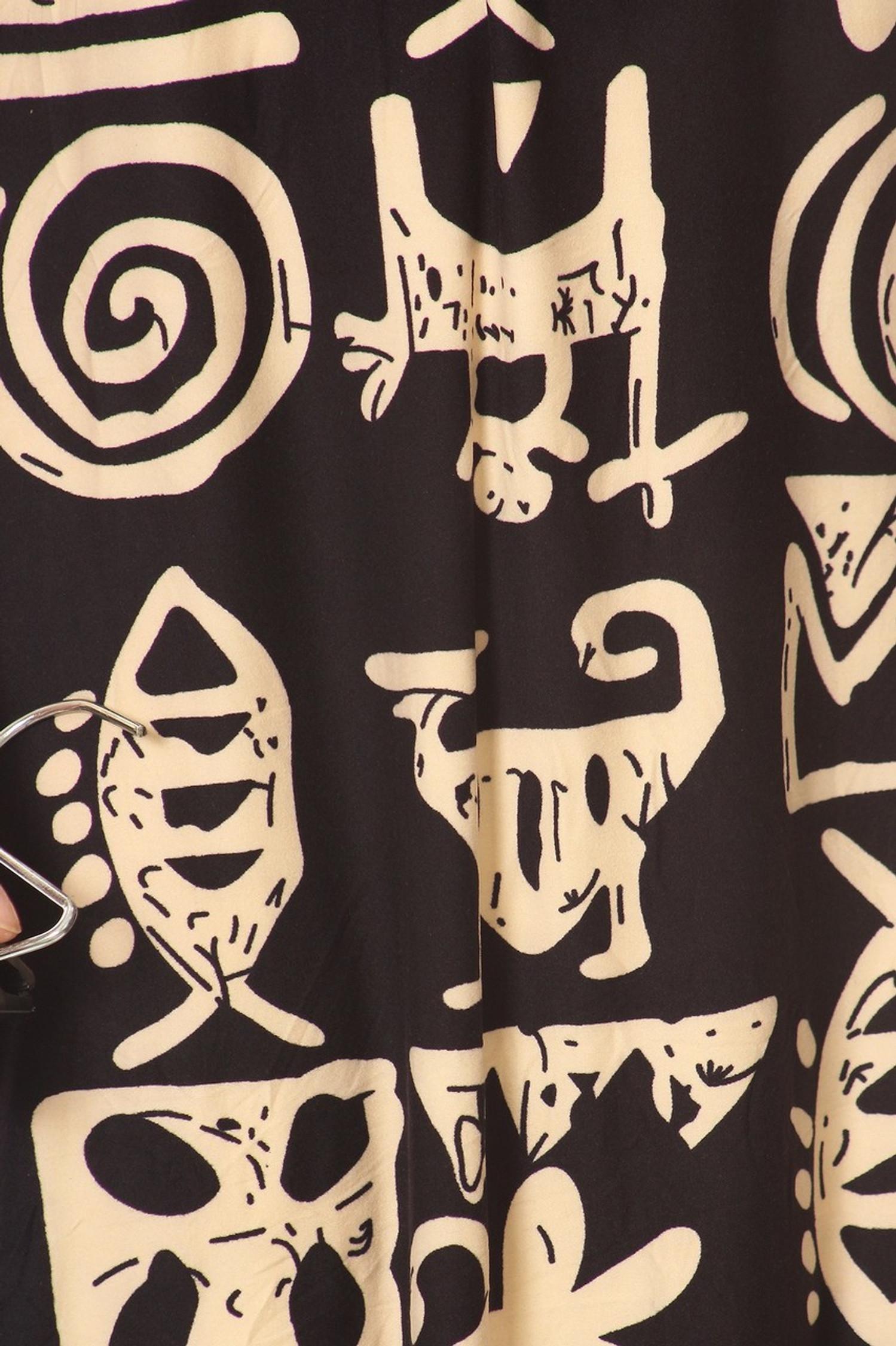 Brushed Elegant Tribal Symbols Maxi Dress