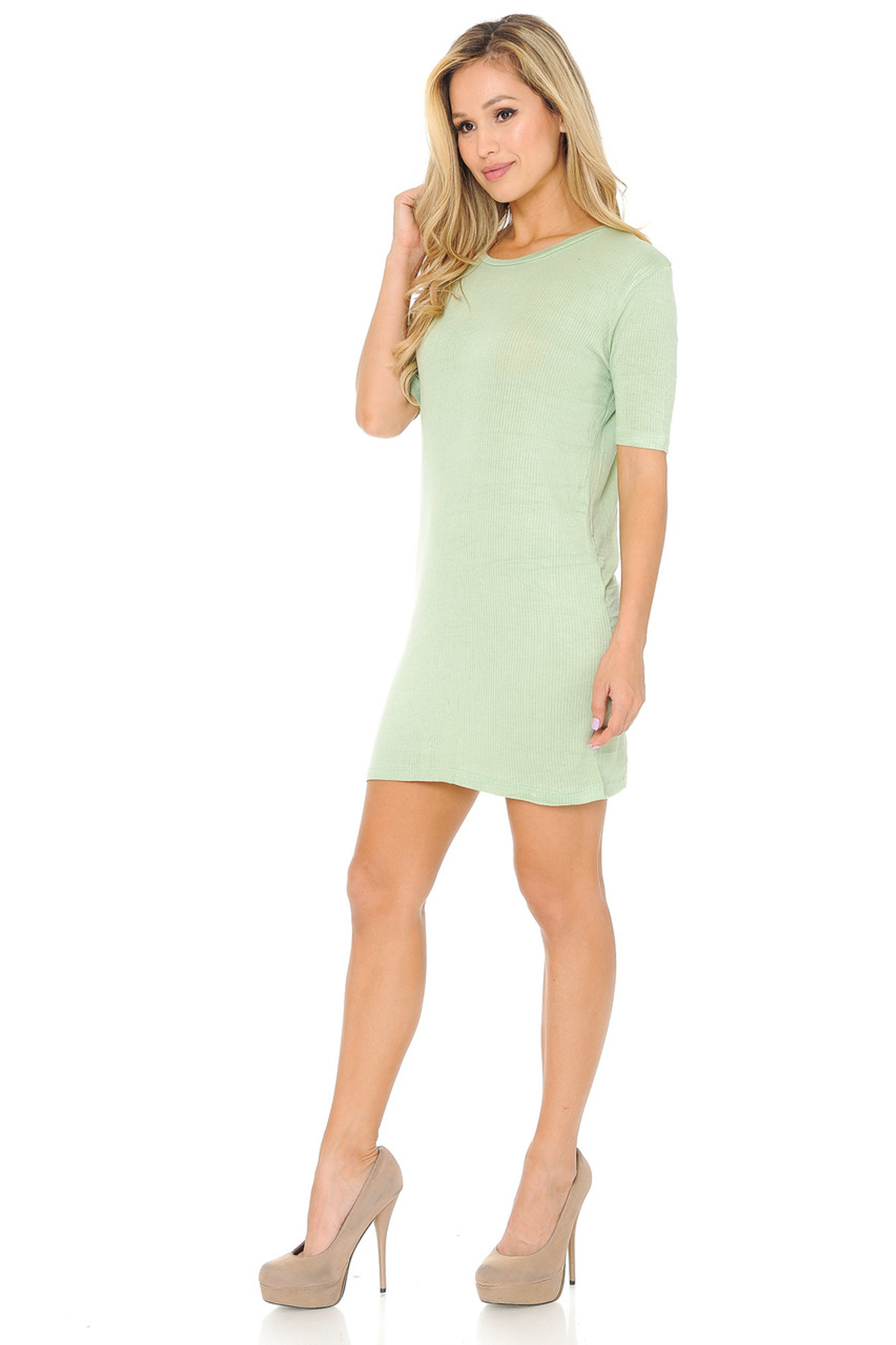 Lightweight Rayon Any Day Solid Basic Midi Dress