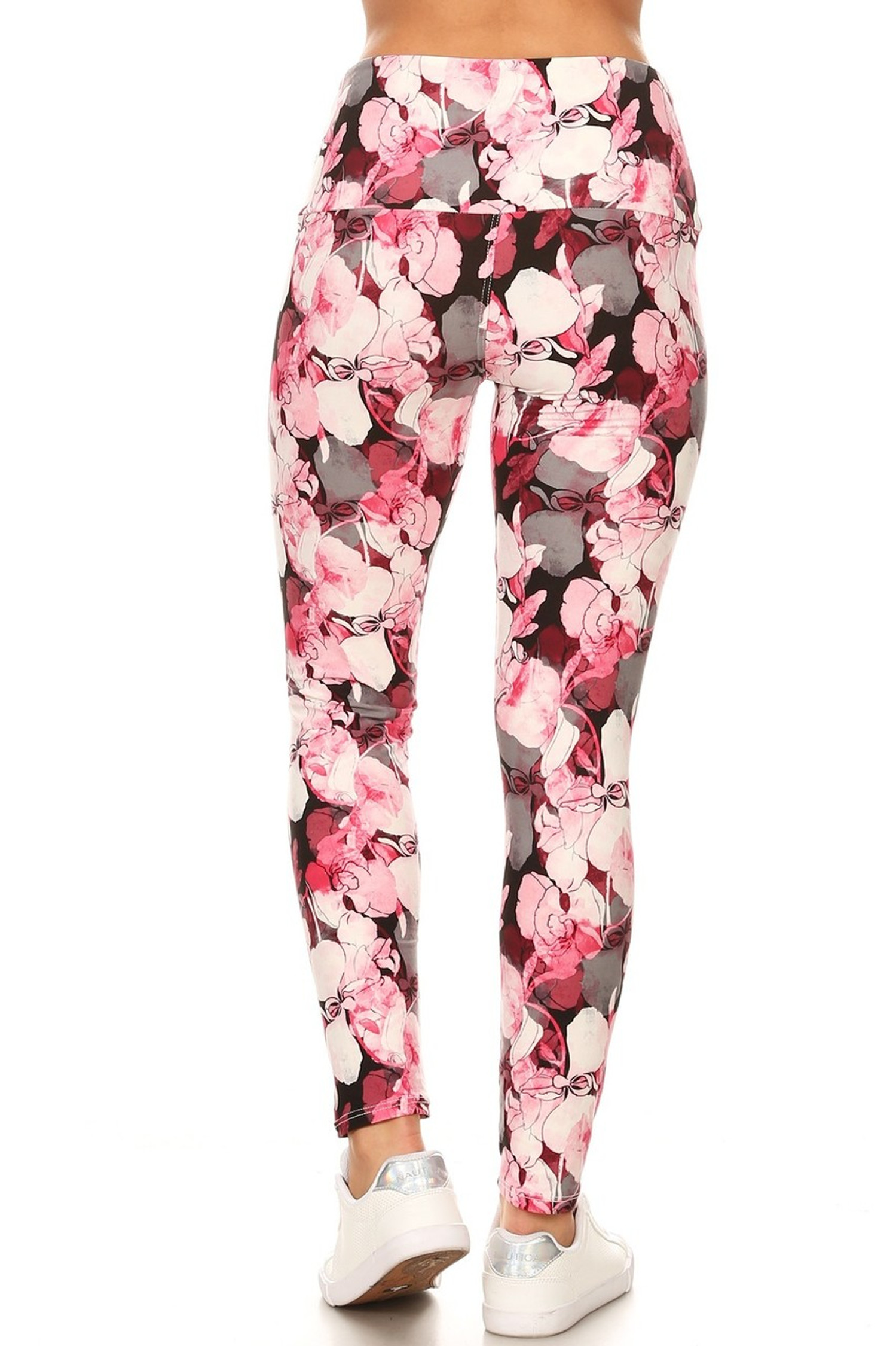 Brushed Lavish Raspberry Rose High Waist Leggings