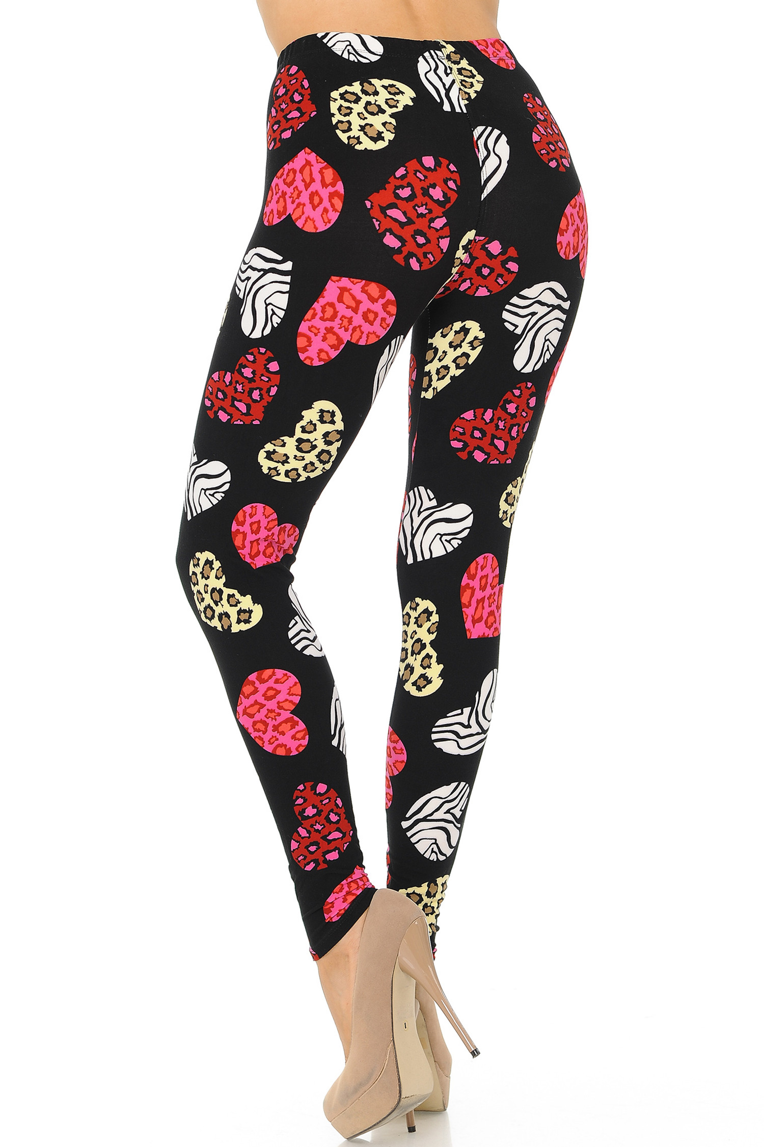 Brushed Textured Hearts Leggings