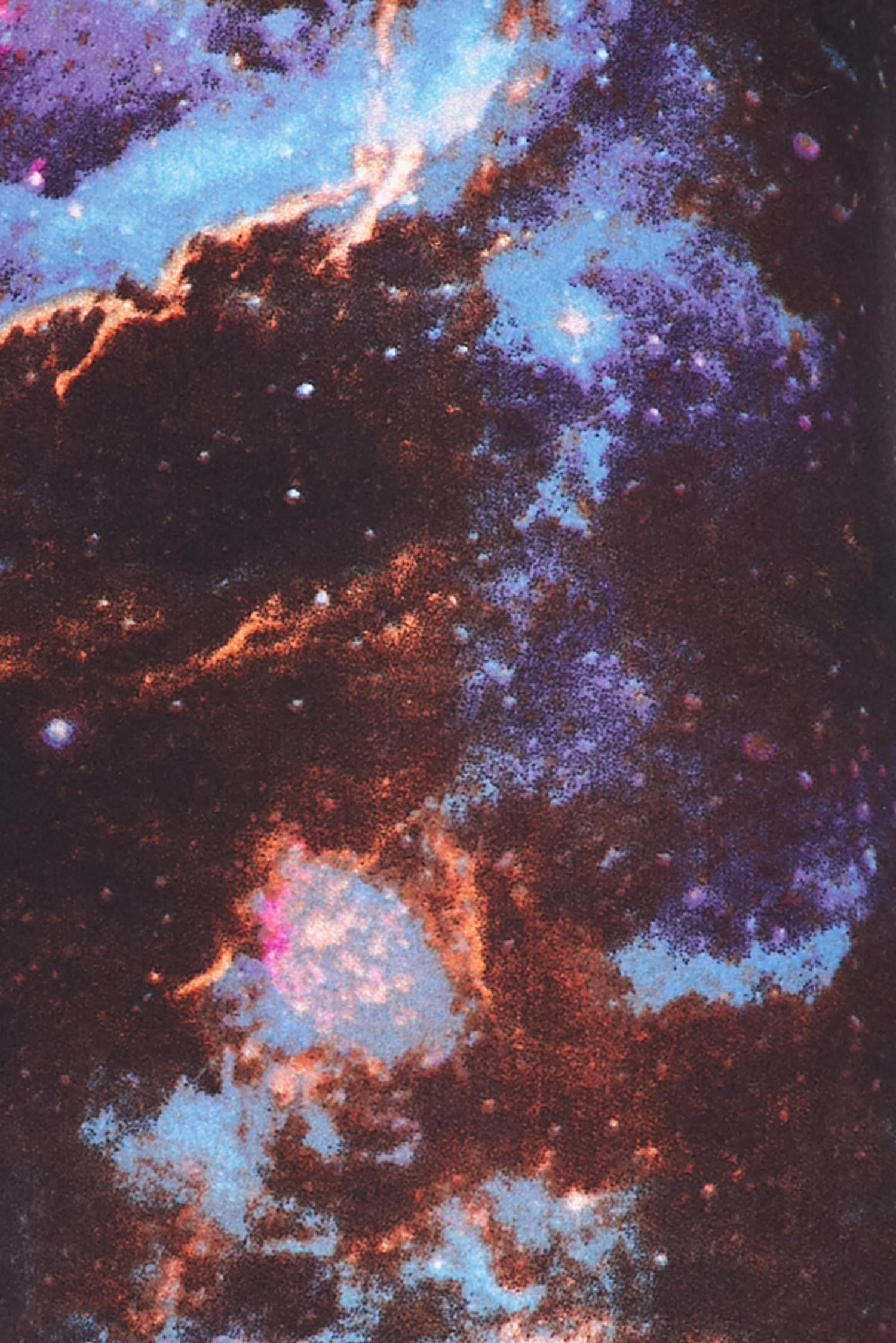 Brushed Dark Nebula Galaxy Plus Size Leggings