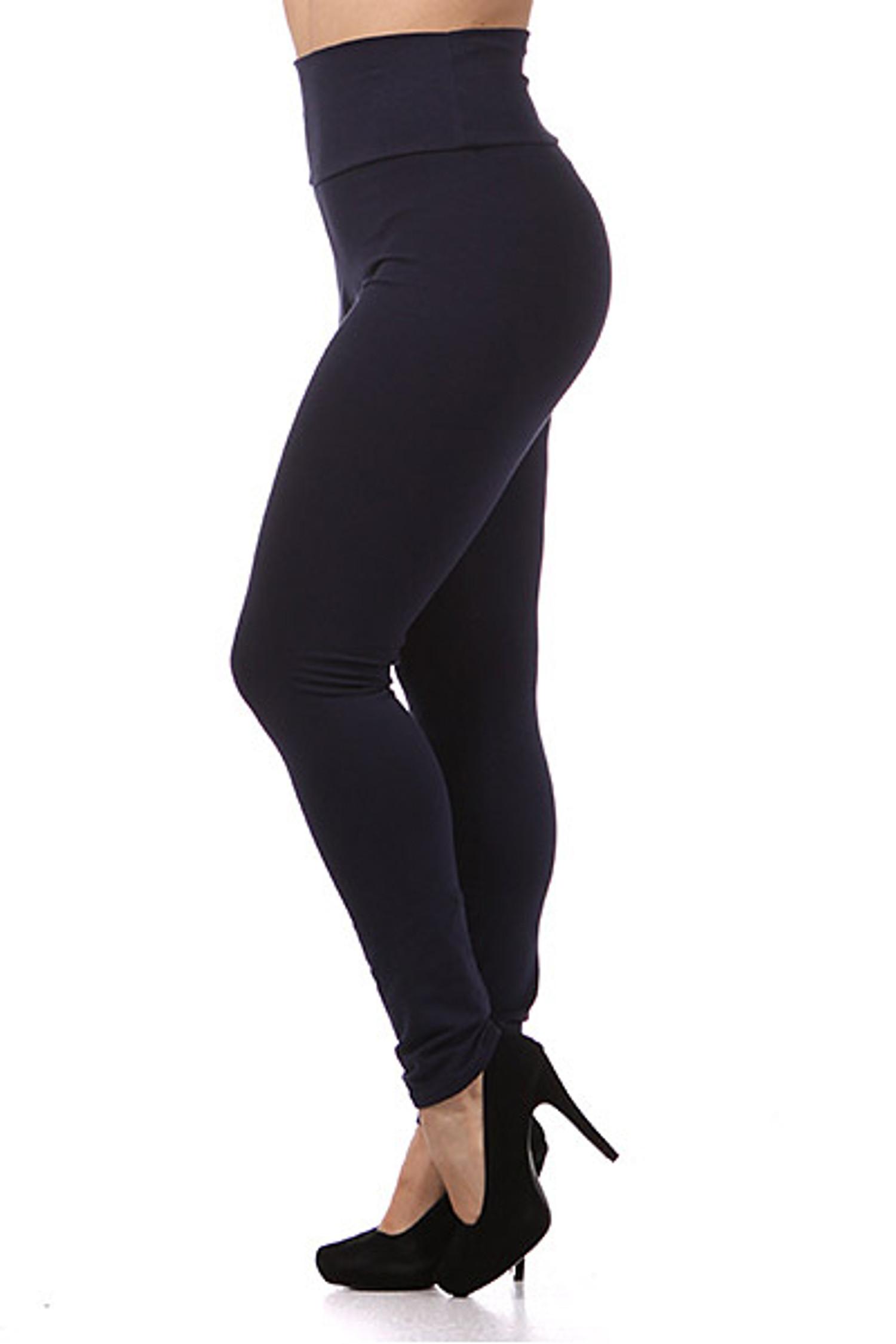 High Waist Cotton Plus Size Leggings