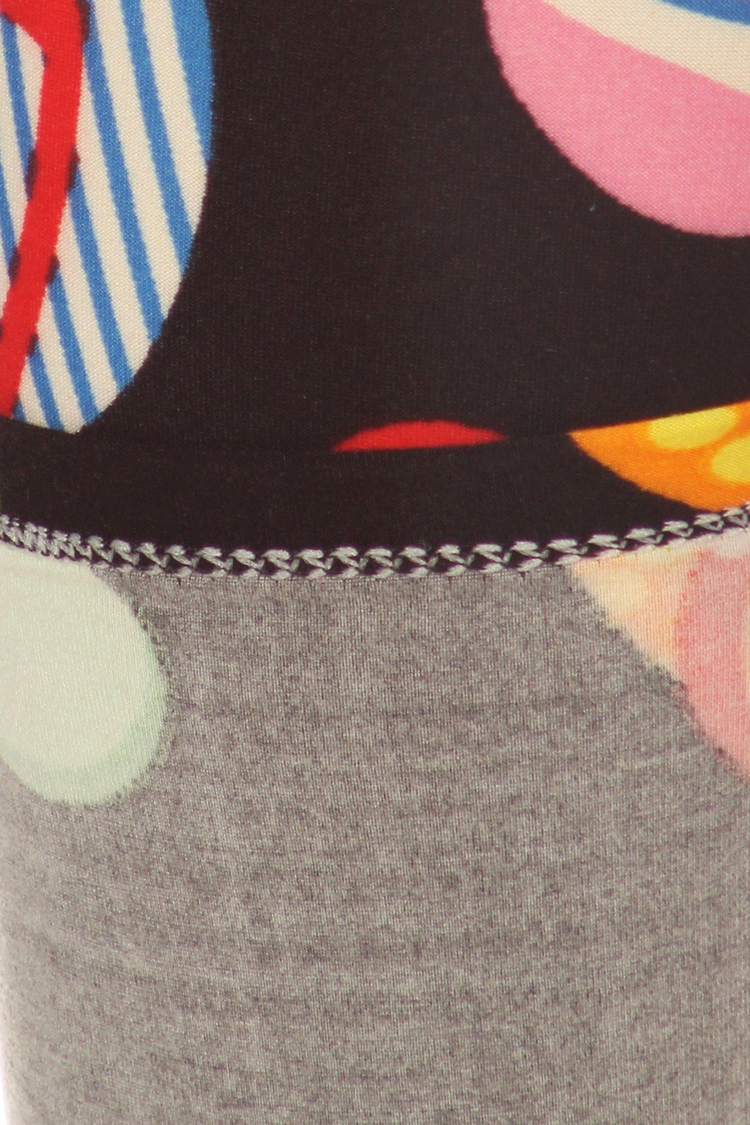 Soft Brushed Jumbo Beach Sandals Plus Size Leggings - 3X-5X