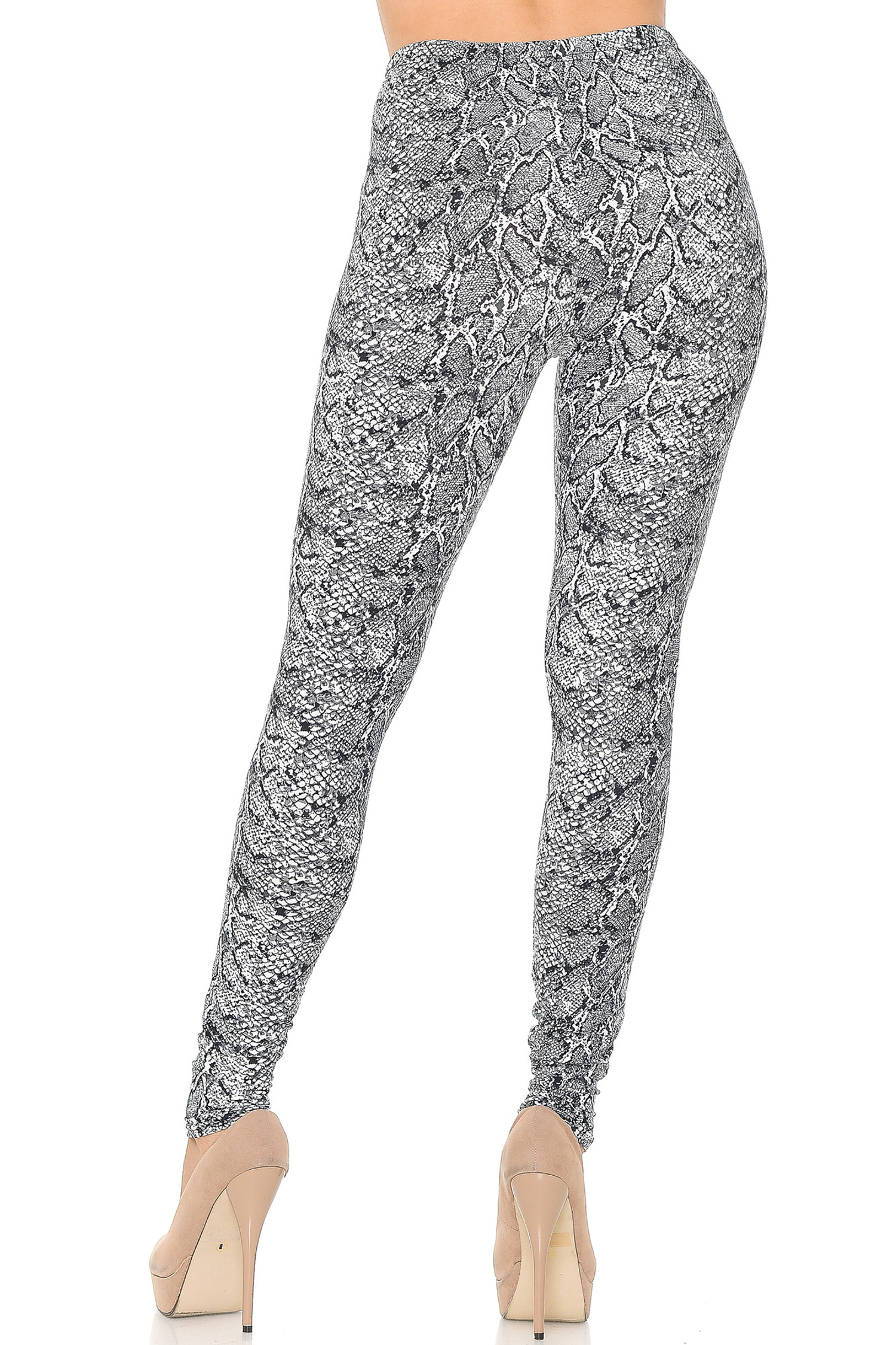 Soft Brushed Snakeskin Leggings