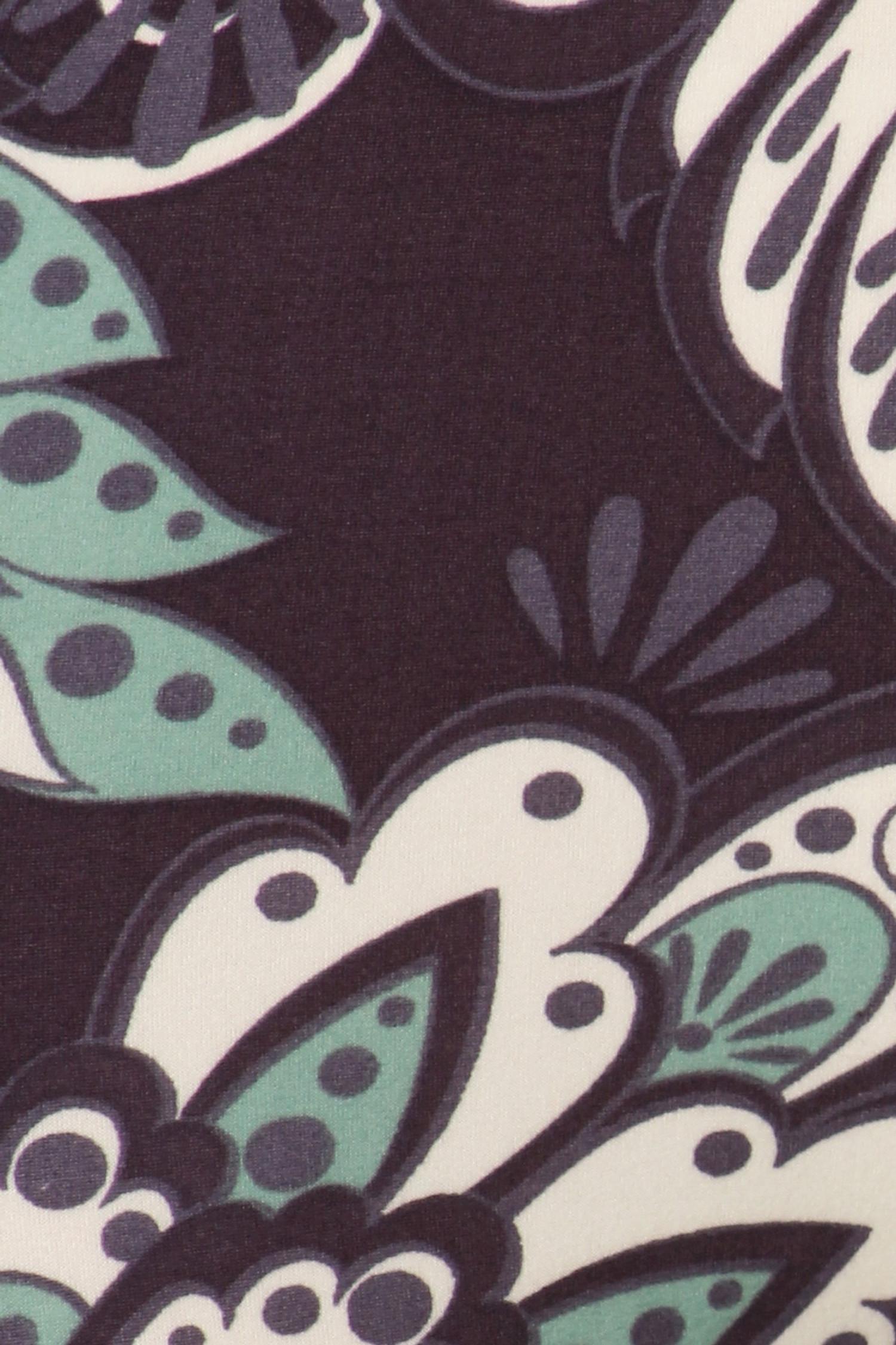 Soft Brushed Indigo Paisley Shorts