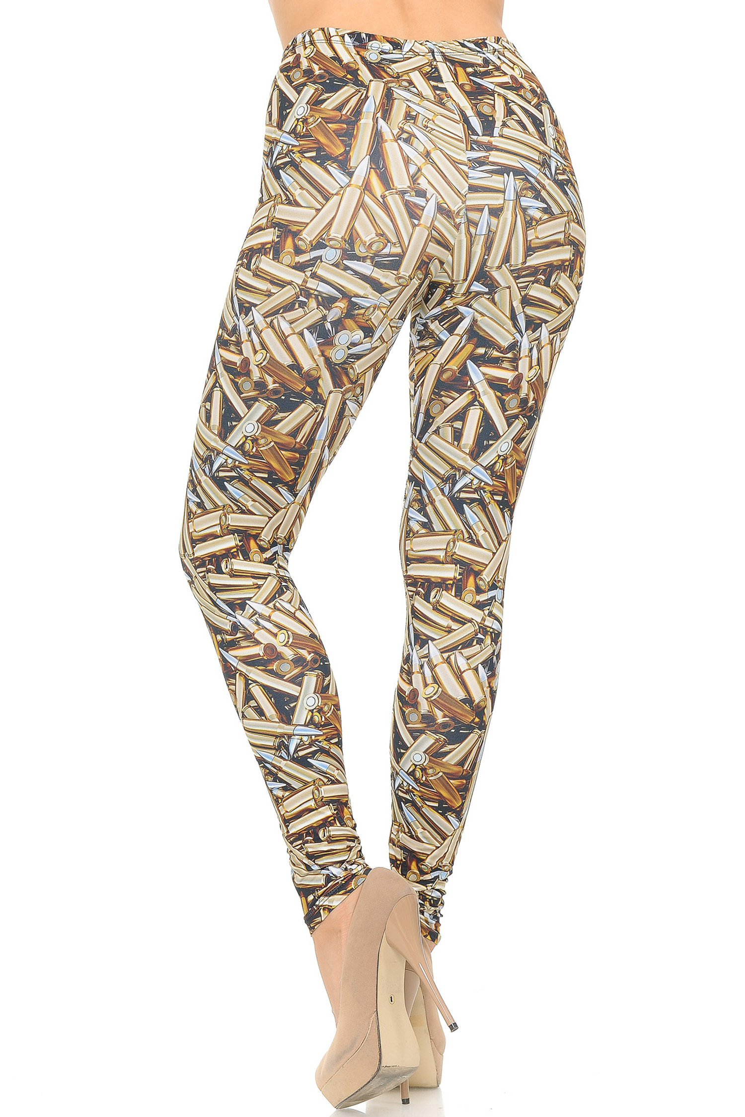 Soft Double Brushed Bronze Bullets Leggings