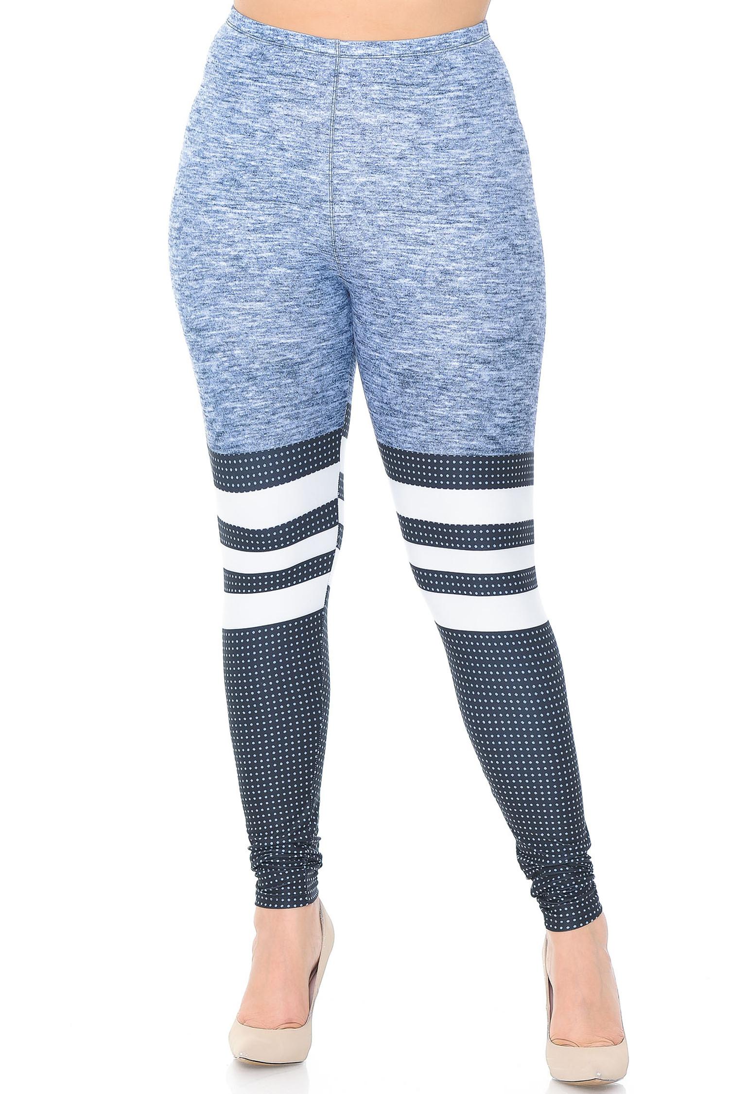 Creamy Soft Split Sport Extra Plus Size Leggings - 3X-5X - USA Fashion™