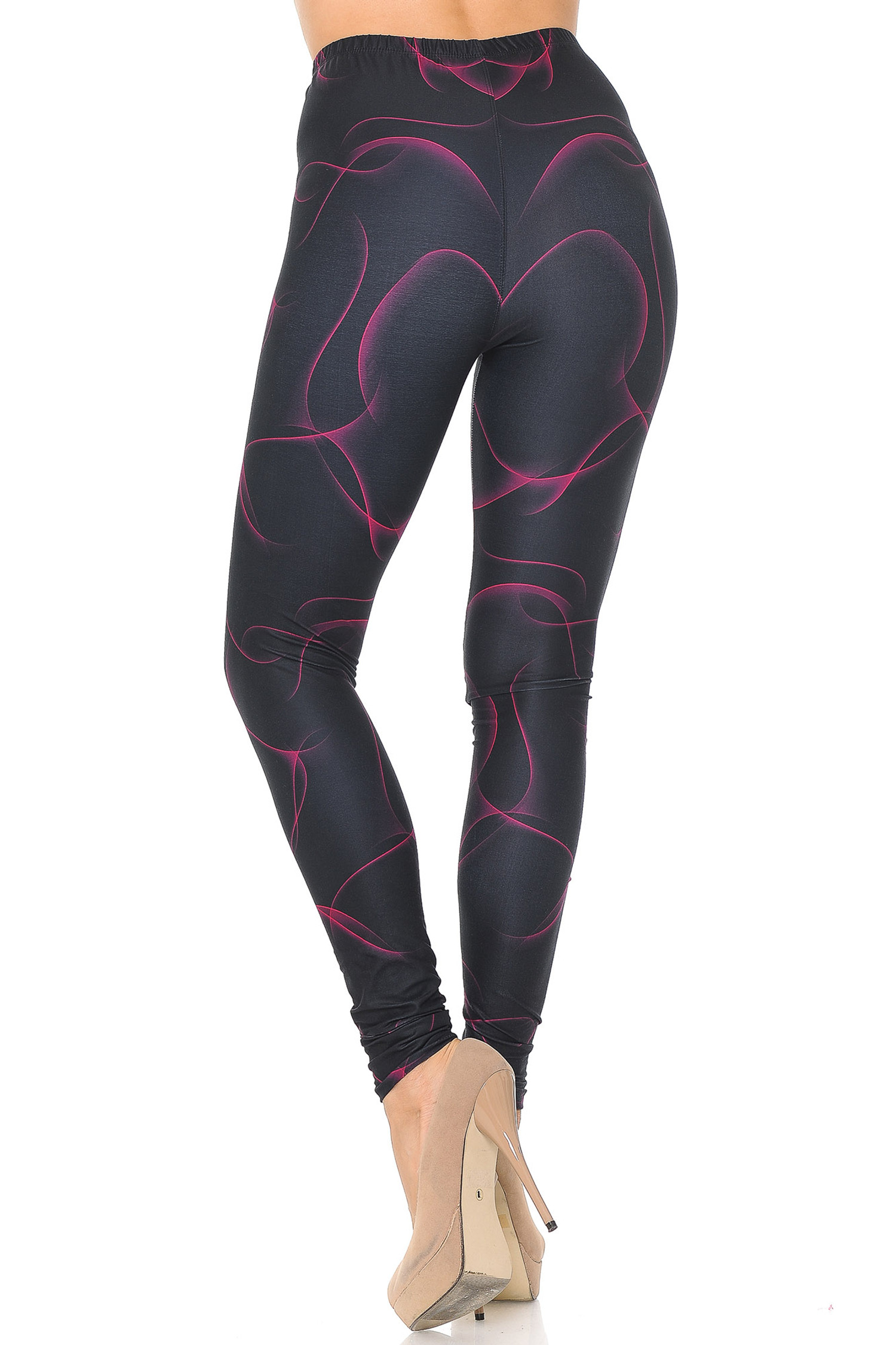 Creamy Soft Fuchsia Mist Extra Small Leggings - USA Fashion™