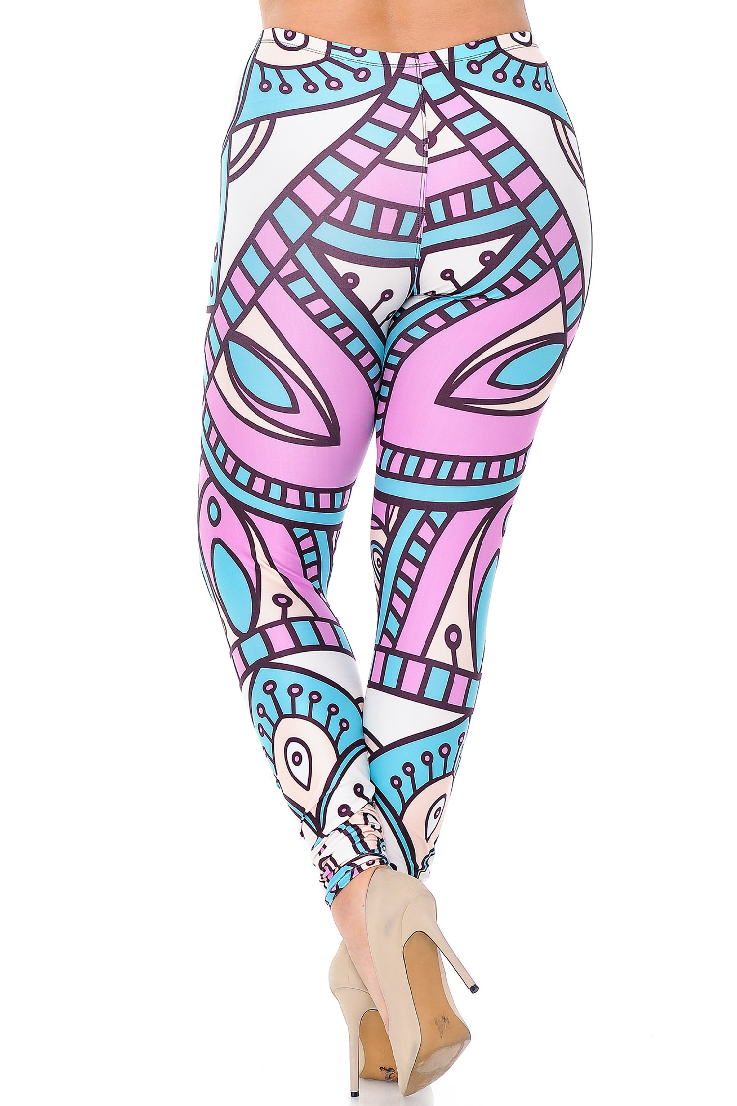Creamy Soft Cute Mandala Plus Size Leggings - USA Fashion™