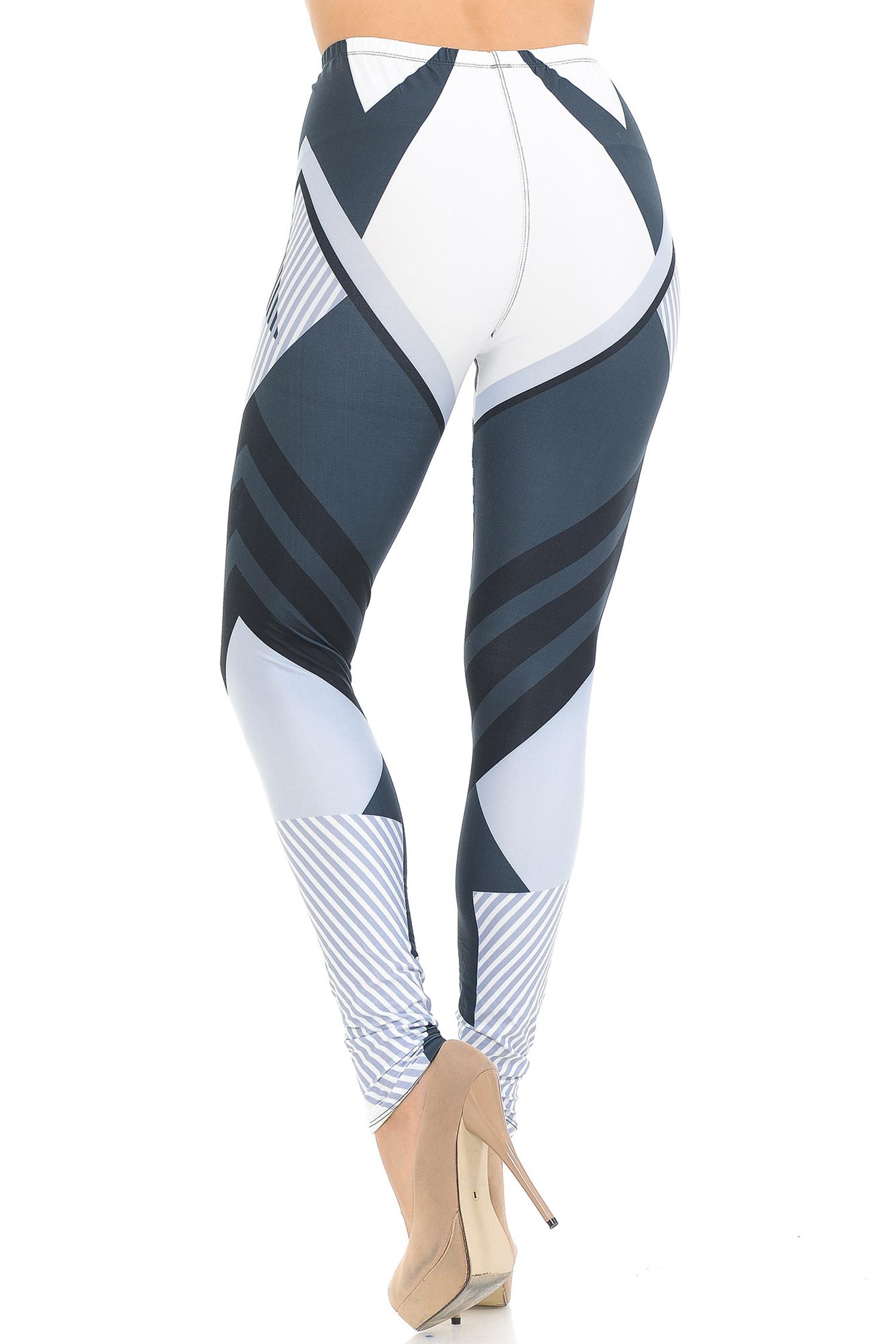 Creamy Soft Contour Angles Leggings - USA Fashion™