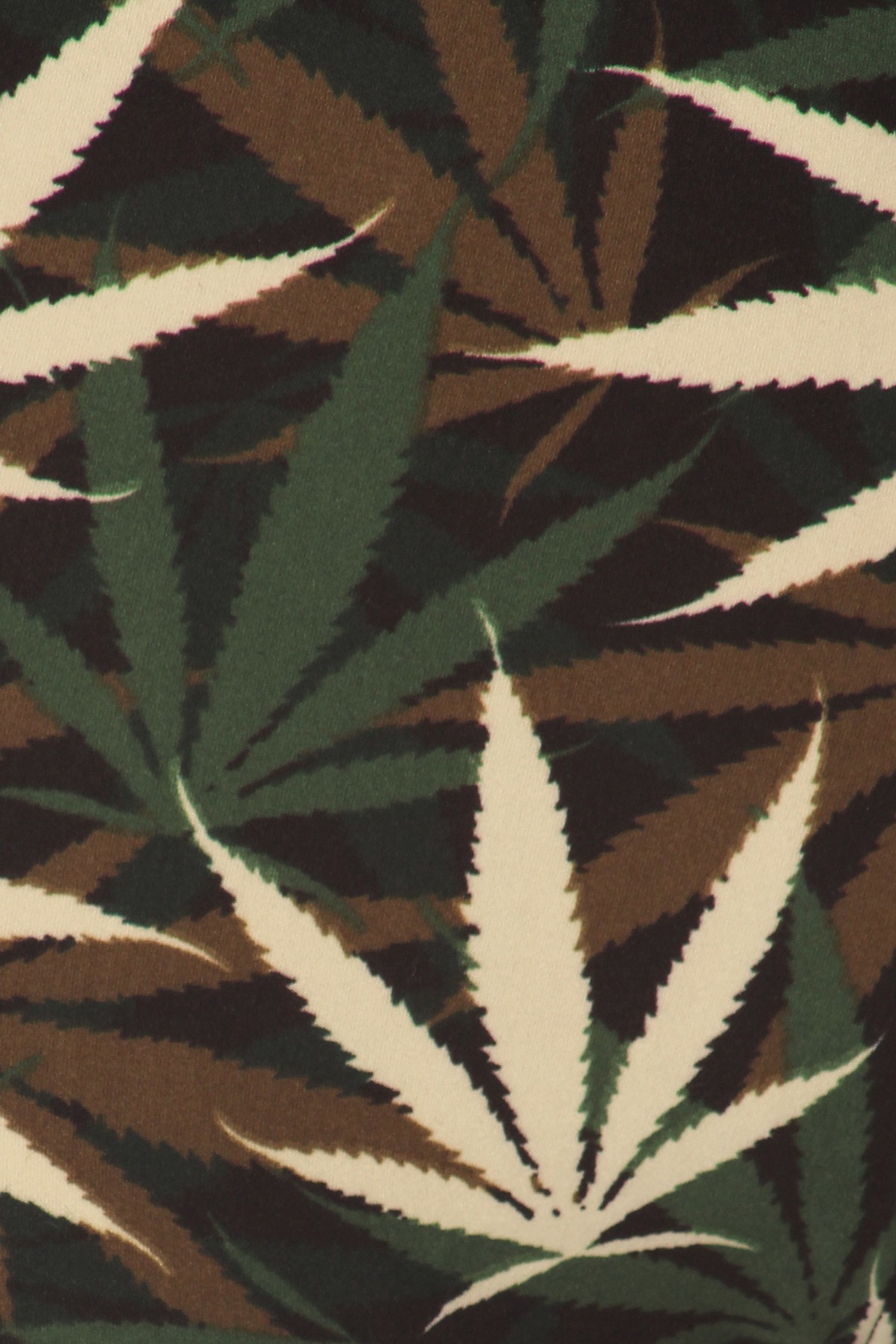 Buttery Soft Earthen Marijuana Leggings