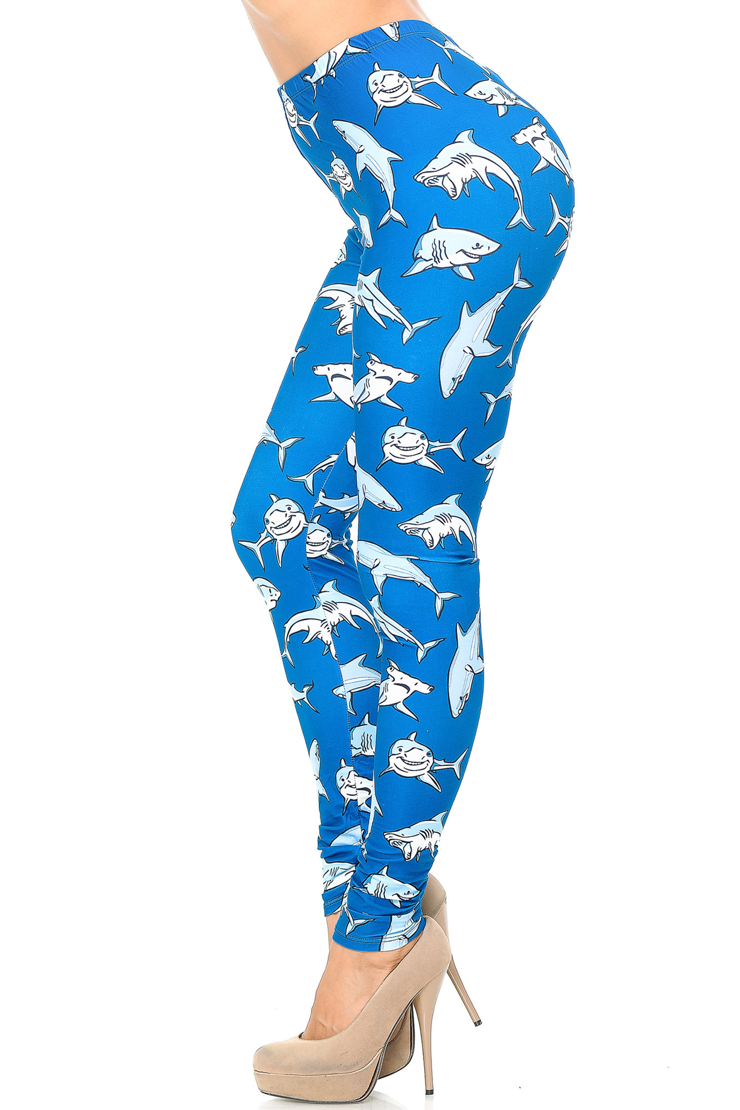 Creamy Soft Shark Leggings - USA Fashion™