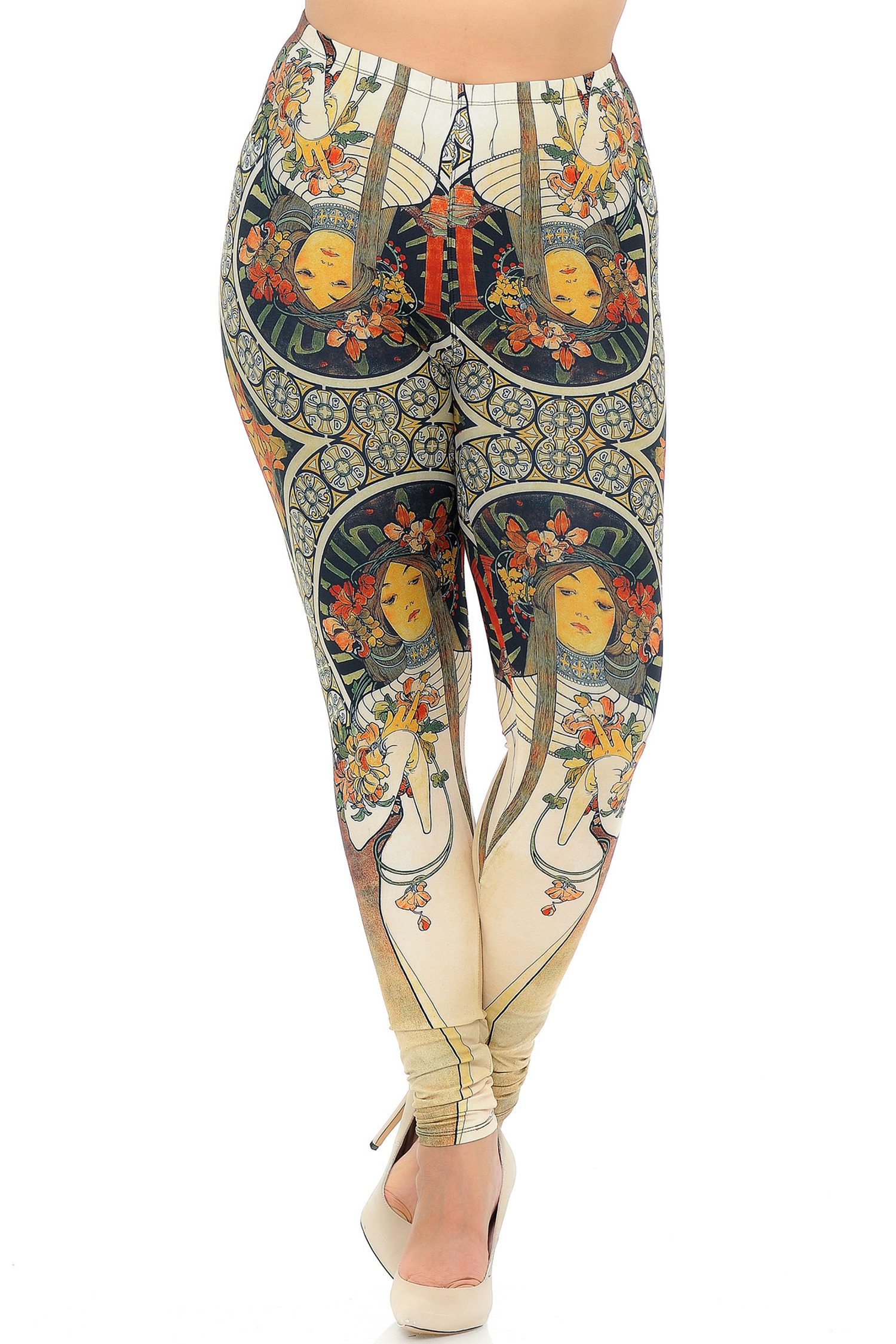 Creamy Soft Gaia Mucha Plus Size Leggings - USA Fashion™