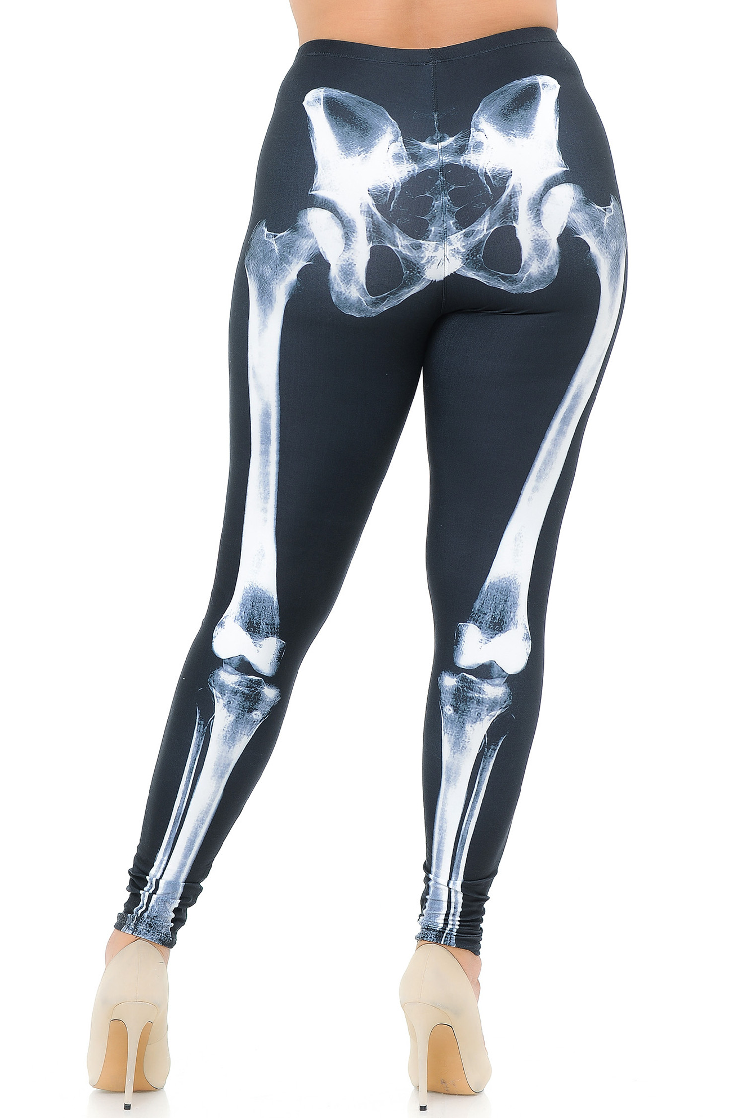 Creamy Soft X-Ray Skeleton Bones Extra Plus Size Leggings - USA Fashion™