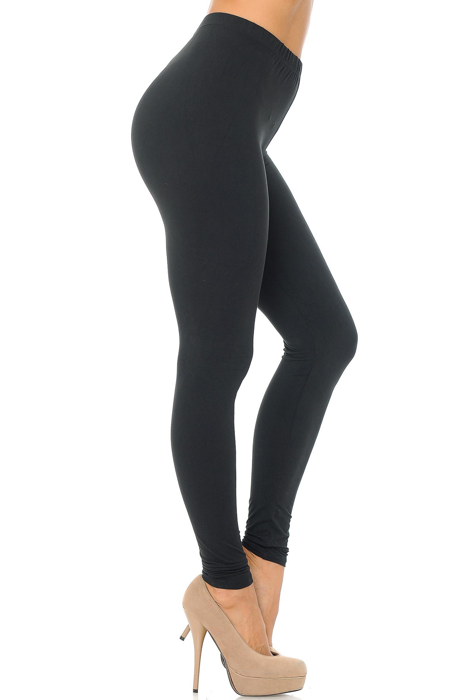 Brushed Basic Solid Leggings - EEVEE