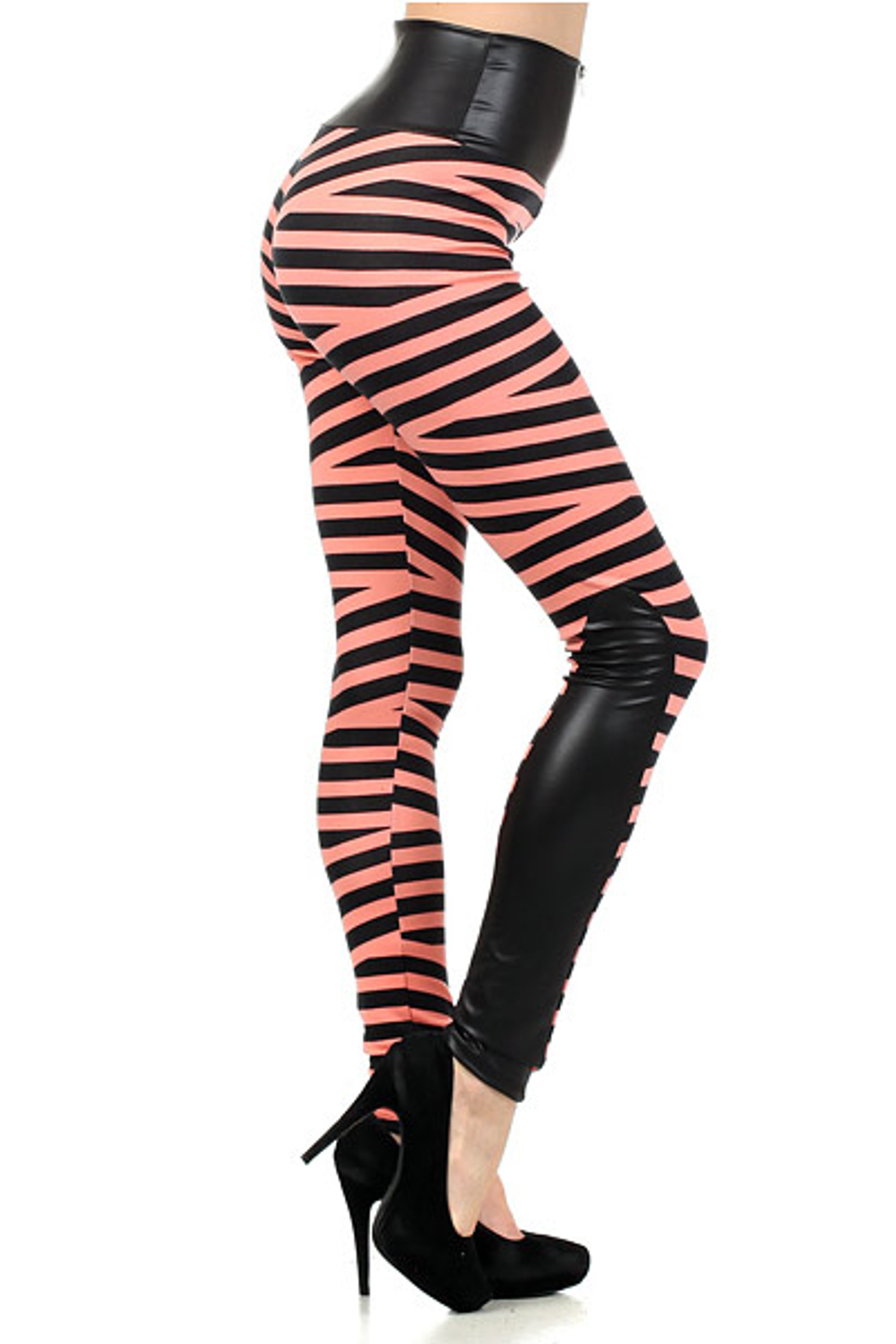 Medusa Bandeau High Waist Leggings Coral
