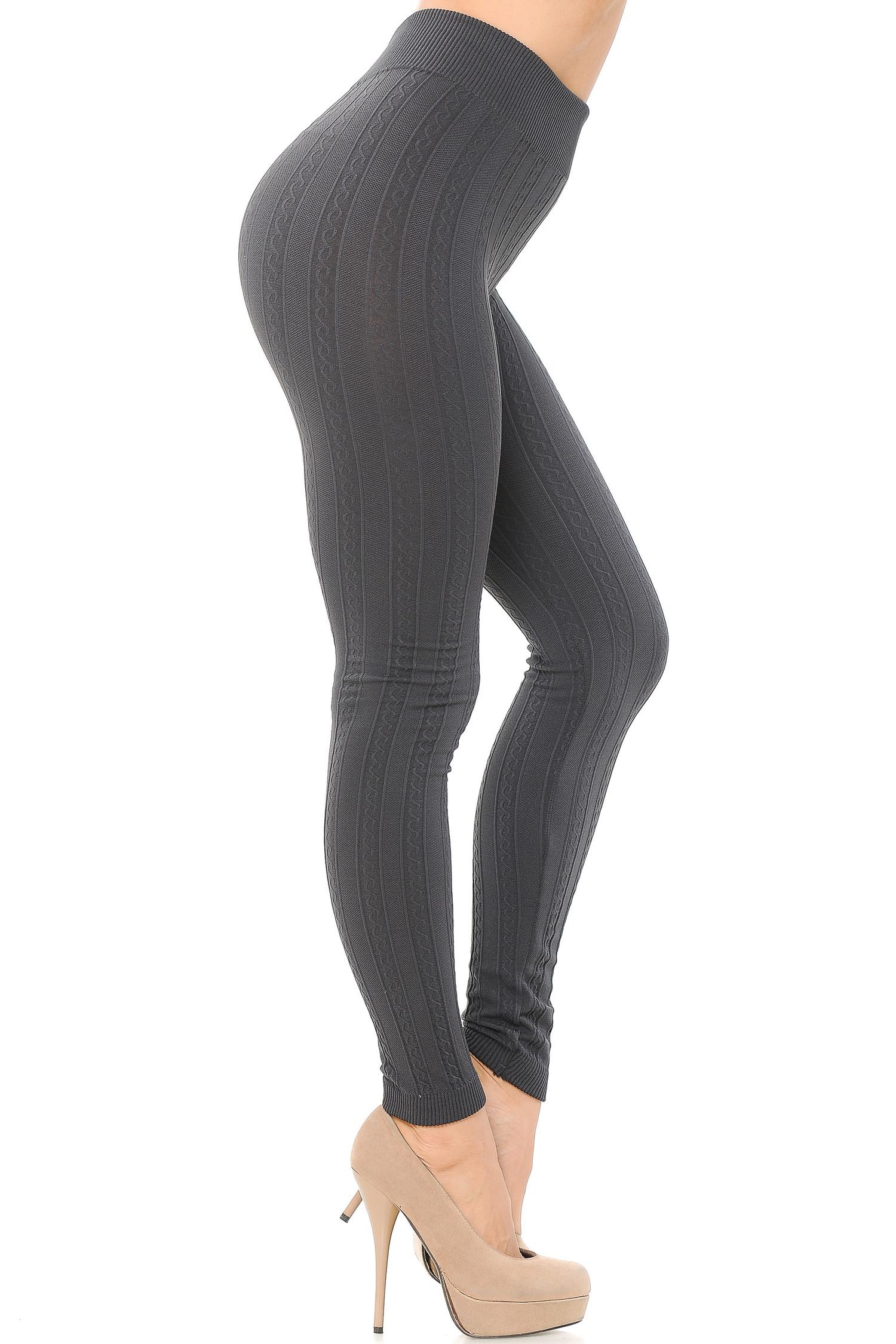 Winter Sweater Fleece Lined Leggings