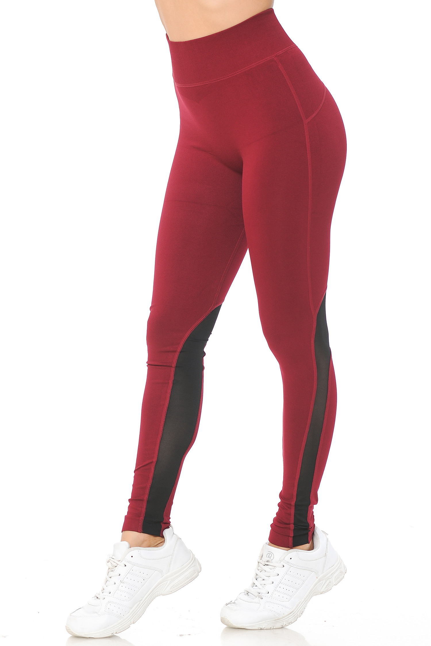 Sport Ankle Mesh Workout Leggings