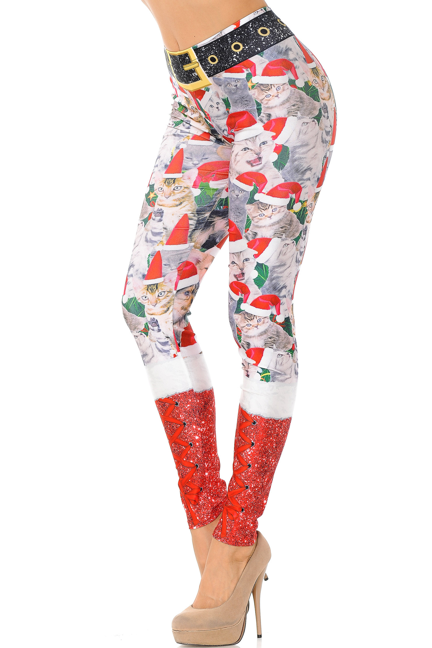 Jolly Christmas Cats and Dogs Leggings