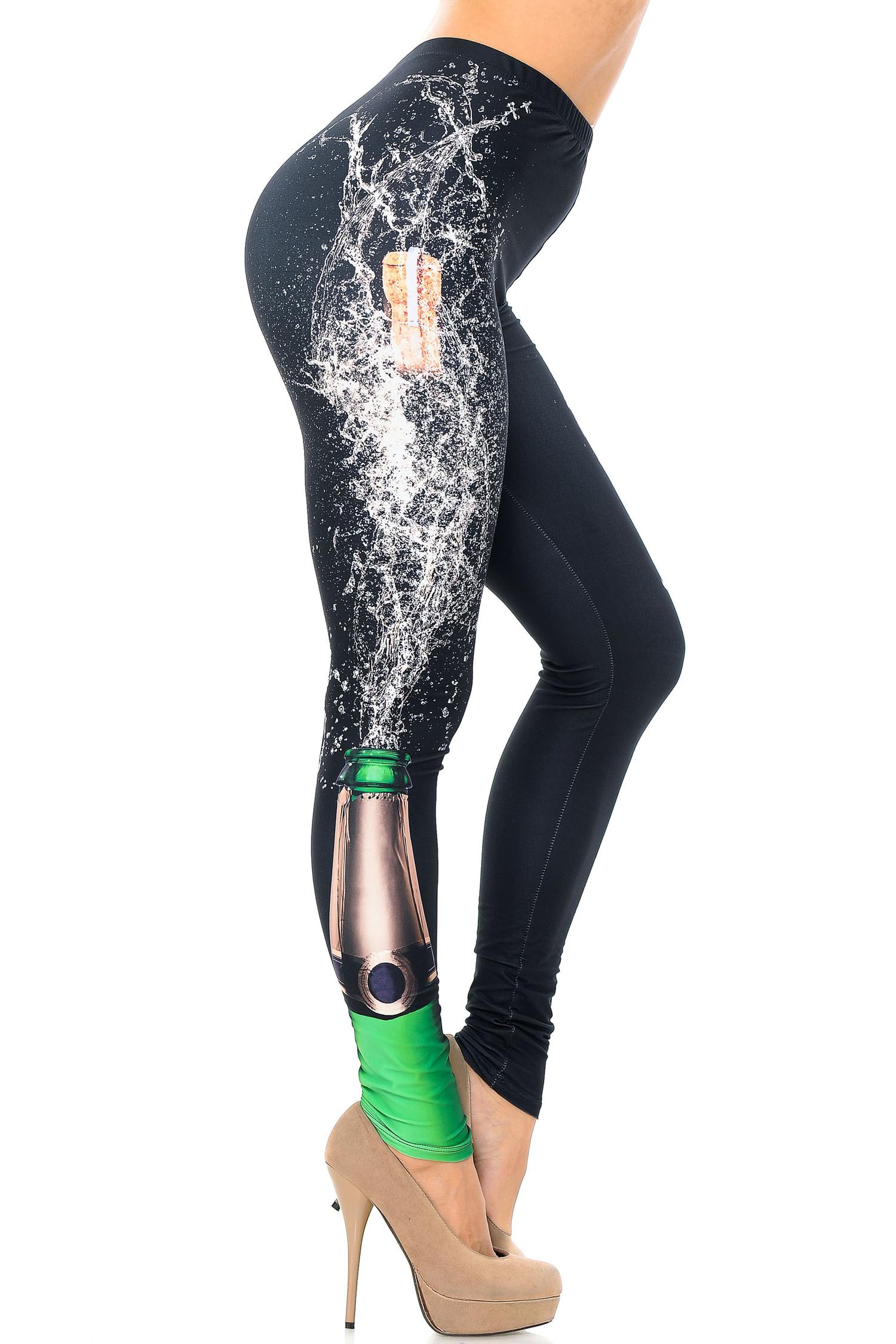 Creamy Soft Pop the Champagne Leggings - USA Fashion™