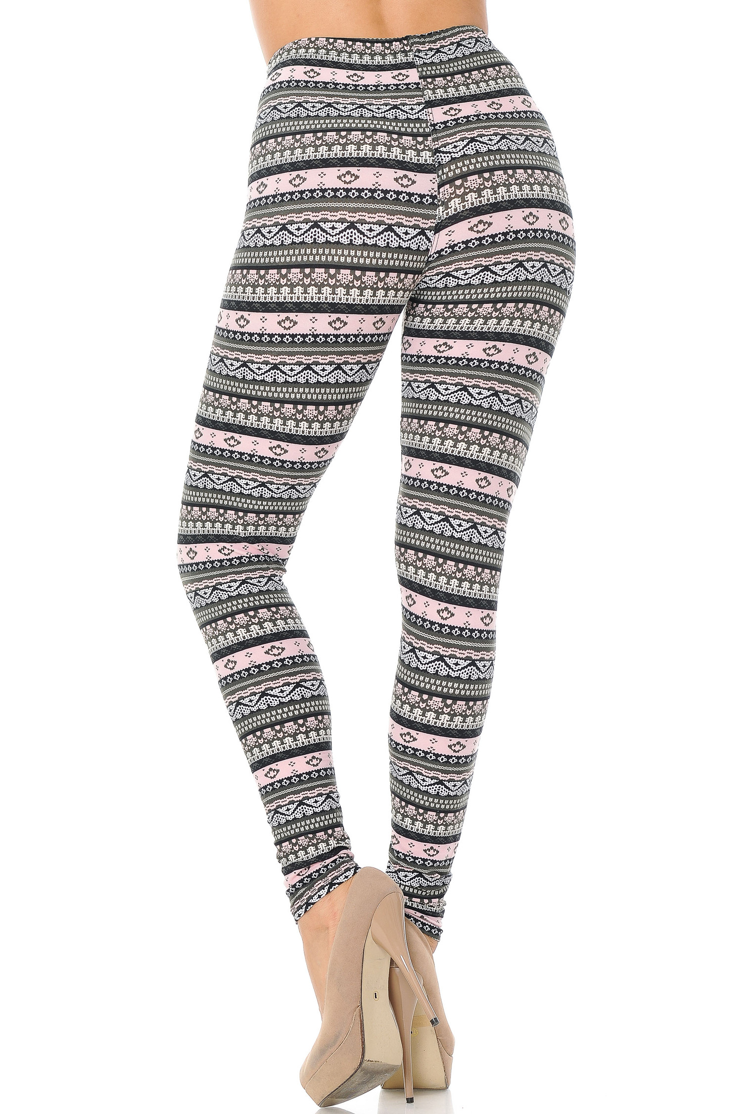 Brushed Dainty Pink Wrap Plus Size Leggings
