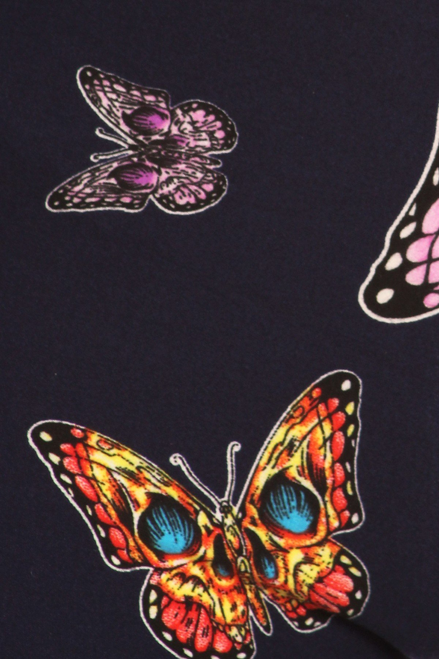 Brushed Blue Moon Colorful Butterfly Leggings