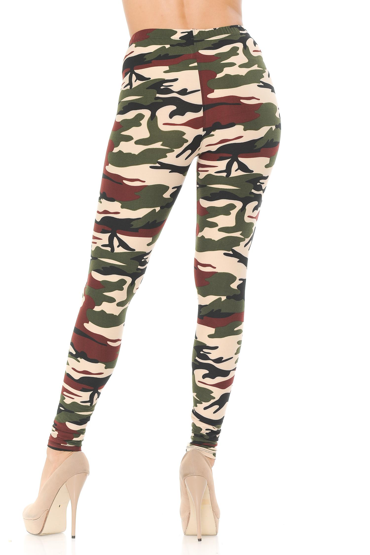 Brushed  Cozy Camouflage Leggings