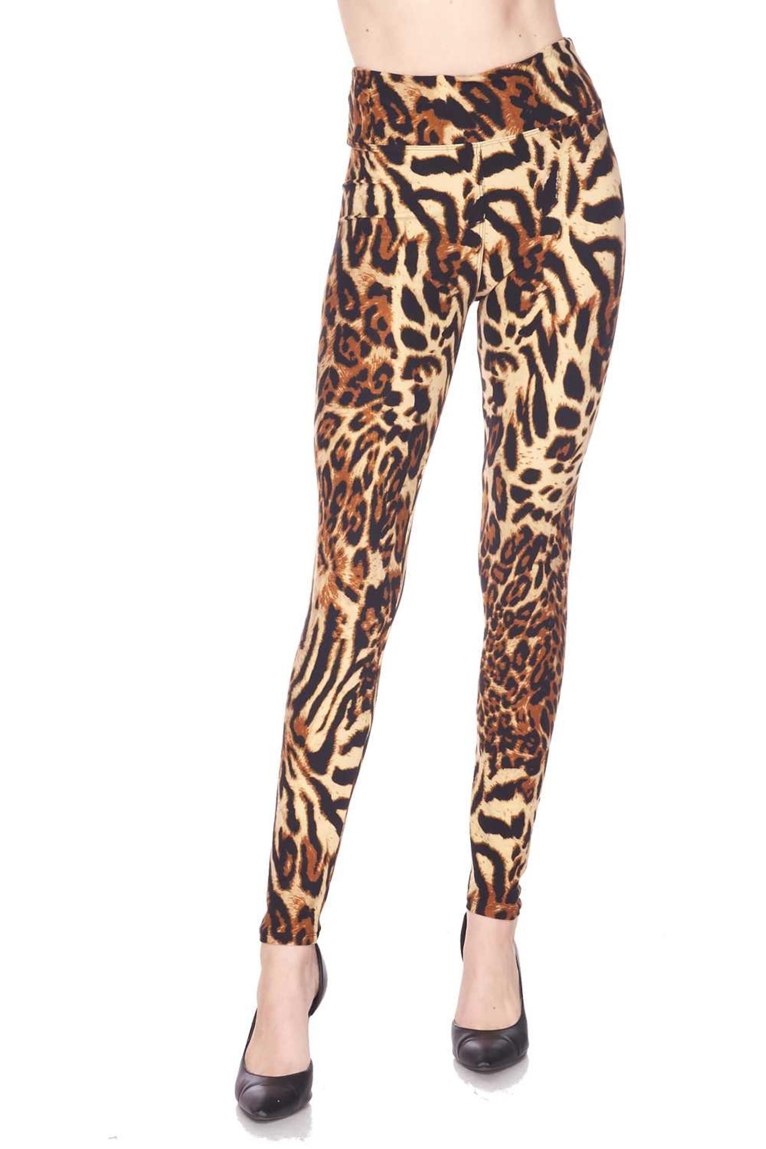 Brushed  Predator Leopard High Waisted Leggings