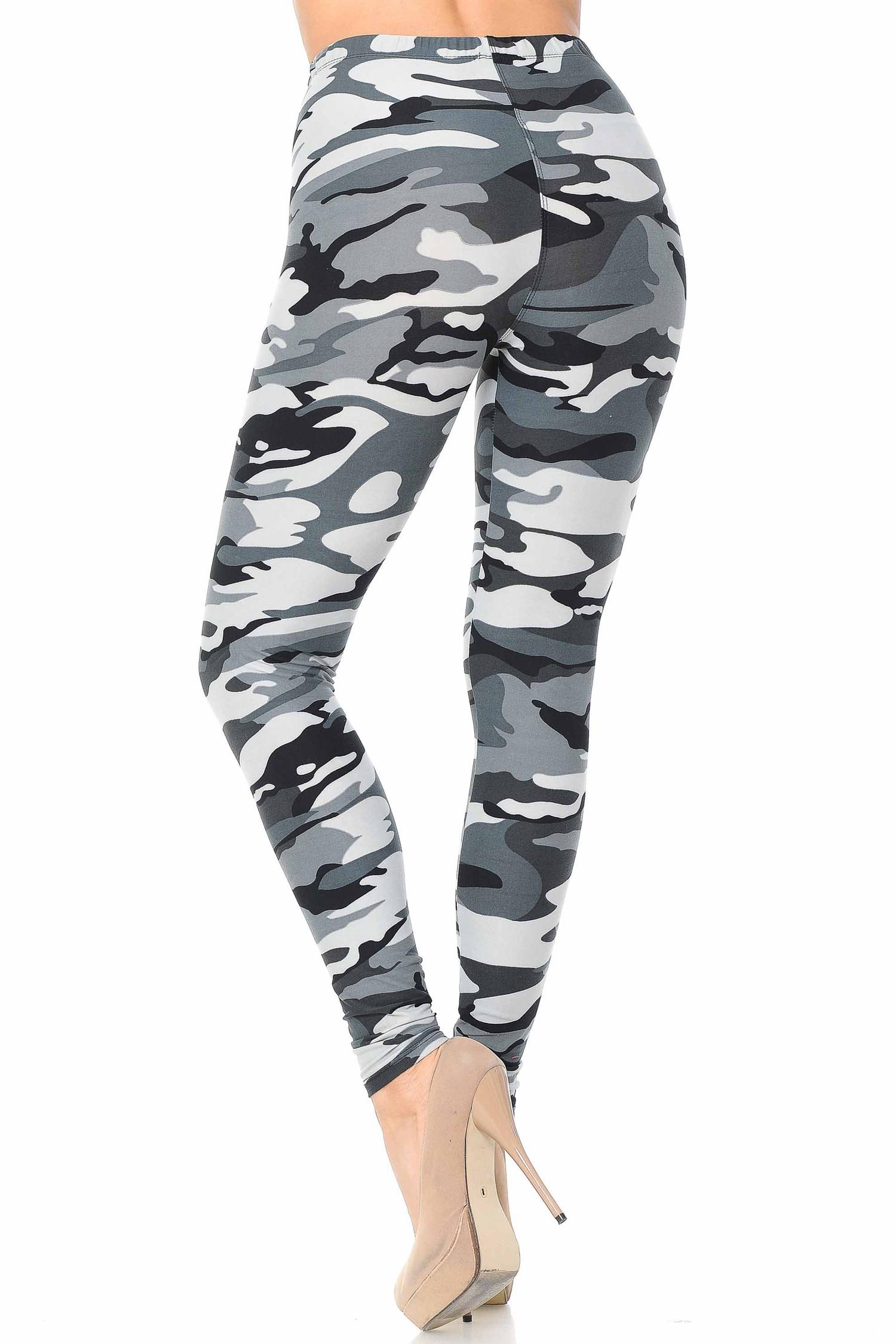 Brushed  Charcoal Camouflage Leggings