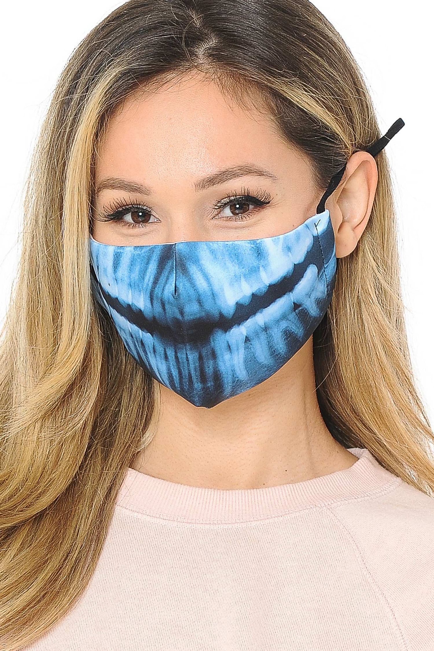 X Ray Skeleton Graphic Print Fashion Face Mask