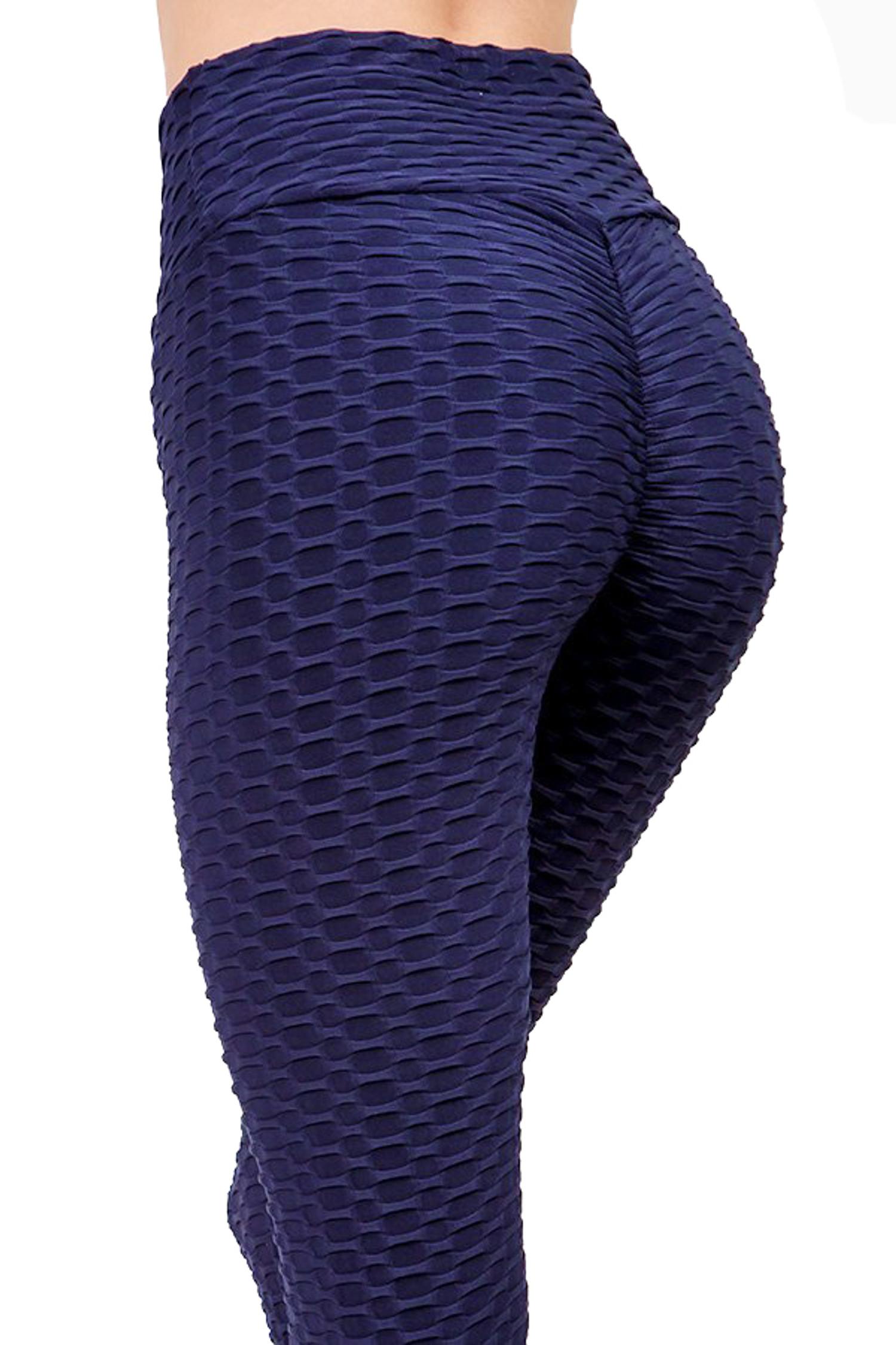 Scrunch Butt Textured High Waisted Capris