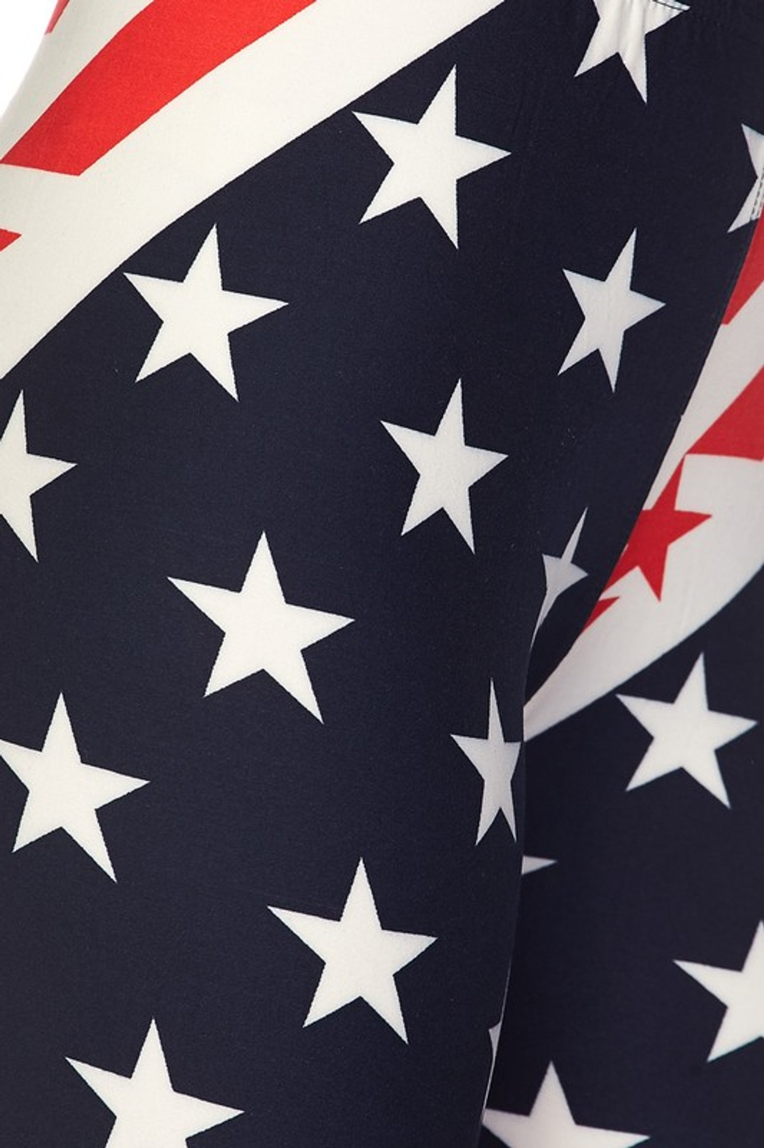 Buttery Soft Star Swirl USA Flag Leggings